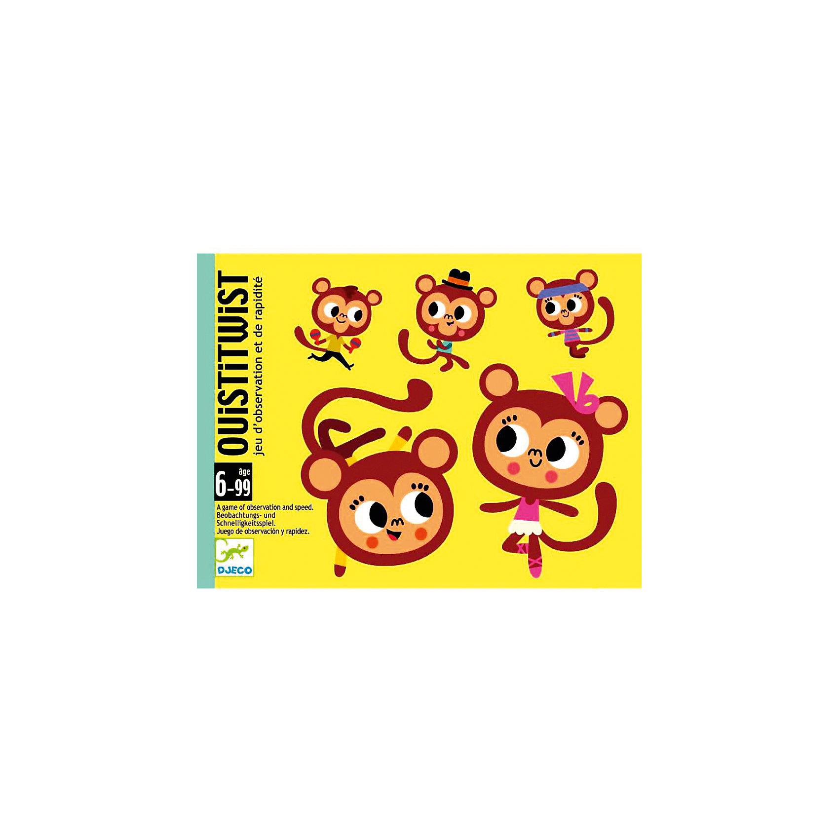 DJECO Карточная игра УистиТвист, DJECO игры для малышей djeco детская настольная карточная игра мини семья