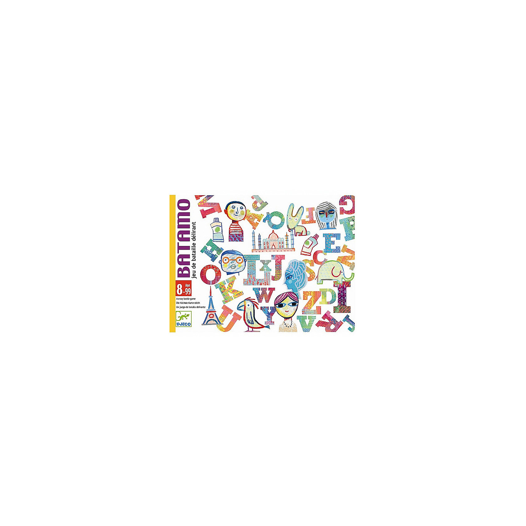 DJECO Карточная игра Батамо, DJECO игры для малышей djeco детская настольная карточная игра мини семья