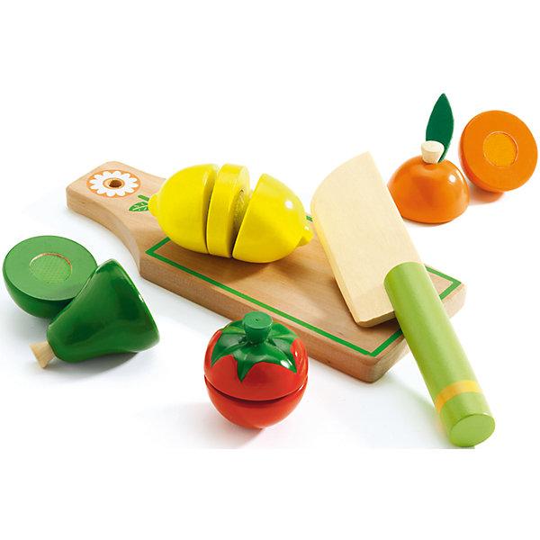Набор для разрезания Фрукты и овощи, DJECOИгрушечные продукты питания<br>Игрушечный набор Разрезания продуктов. .Набор деревянных фруктов и овощей для разрезания. С помощью ножа ваш малыш научится разрезать предметы на части, разовьет мелкую моторику, поймет, что такое быть хозяйкой Яркий набор обязательно понравятся всем малышкам и её подружкам. Во время игры ребенок познакомится с различными цветами, научится различать фигуры.<br>Ширина мм: 220; Глубина мм: 200; Высота мм: 50; Вес г: 200; Возраст от месяцев: 36; Возраст до месяцев: 1188; Пол: Унисекс; Возраст: Детский; SKU: 4761459;