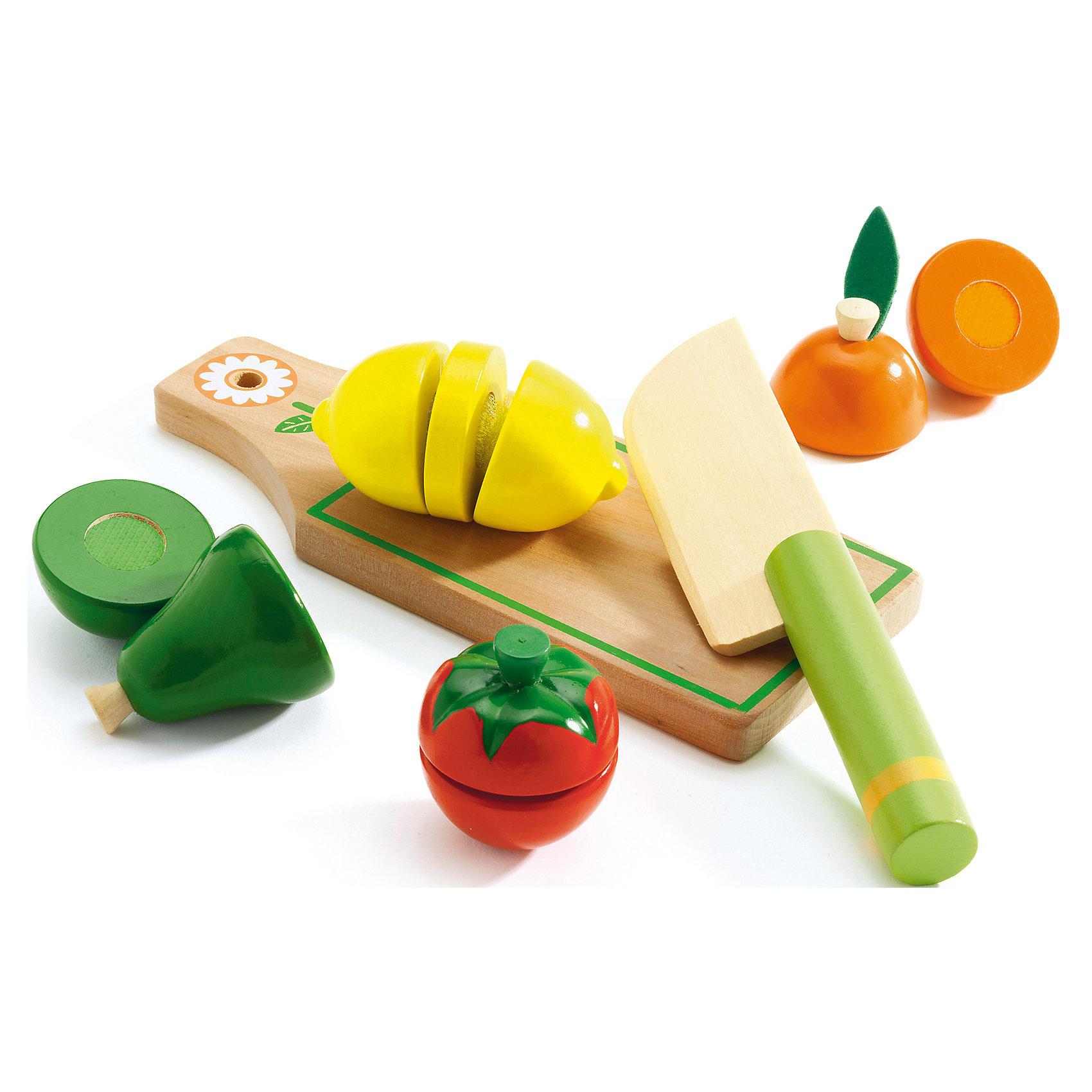 DJECO Набор для разрезания Фрукты и овощи, DJECO djeco набор игрушек животные djeco