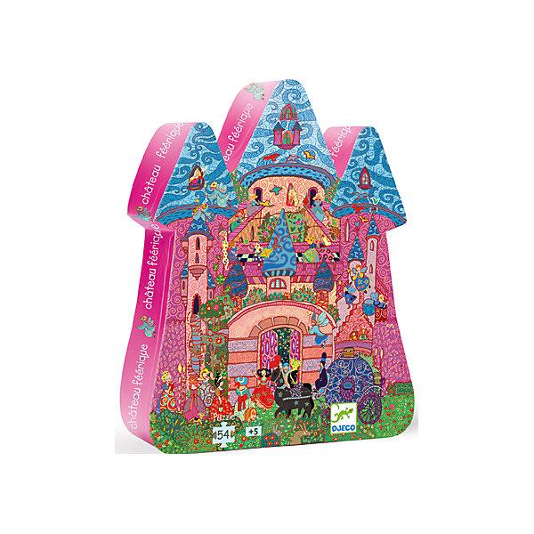 Пазл Сказочный замок, 54 детали, DJECOПазлы для малышей<br>Пазл Сказочный замок от фирмы Djeco произведет впечатление на маленьких любителей неторопливого развлечения. Мозаика - увлекательное занятие для всей семьи. По картинке необходимо собрать целое изображение из 54 деталей разной формы. Подбирая необходимые пазлы по цветам и изображенным деталям, дети учатся мыслить логически, развивается память и внимание. Используя в игре маленькие предметы, ребенок тренирует мелкую моторику пальцев рук. На картинке очень много ярких маленьких деталей. Шумный праздничный город, в котором проживает много людей, у каждого своя комната в замке и своя история. Когда пазл будет собран, ребенок увидит картину реальной жизни в мифическом городе. Фантазируя, он может описать ее и придумать сюжет дальнейшего развития. Игрушки фирмы Djeco носят образовательный и развлекательный характер, развивают воображение и художественный вкус. Вся выпускаемая продукция отвечает высоким стандартам качества и безопасна для здоровья детей. В наборе 54 детали.<br><br>Ширина мм: 300<br>Глубина мм: 230<br>Высота мм: 60<br>Вес г: 760<br>Возраст от месяцев: 36<br>Возраст до месяцев: 1188<br>Пол: Унисекс<br>Возраст: Детский<br>SKU: 4761461