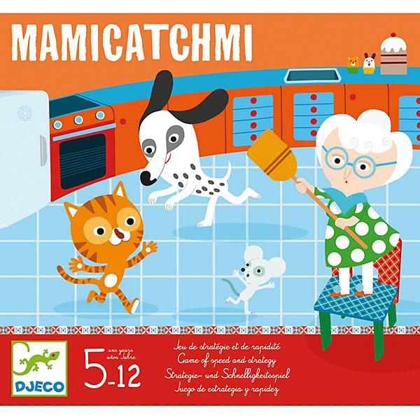 Настольная игра Поймай!, DJECOНастольные игры для всей семьи<br>Настольная игра Поймай! от известного французского производителя Djeco – веселая игра на наблюдательность и скорость для детей возрастом от 5 лет! <br><br>Погоня началась! Действие происходит на кухне и в саду: если мышка покажет кончик носа, бабушка бежит и запрыгивает на свой стул. А когда собака преследует кошку, та забирается на дерево. Каждый раз, когда игроки бросают кубики, герои должны устремиться в правильное место. <br><br>Игра развивает быстроту реакции детей, внимание и наблюдательность. <br><br>Количество игроков: 2-4 человек. <br>Примерное время игры: 15 минут.<br>Ширина мм: 300; Глубина мм: 280; Высота мм: 60; Вес г: 800; Возраст от месяцев: 36; Возраст до месяцев: 1188; Пол: Унисекс; Возраст: Детский; SKU: 4761467;