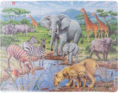 Пазл Африканская саванна , 65 деталей, Larsen