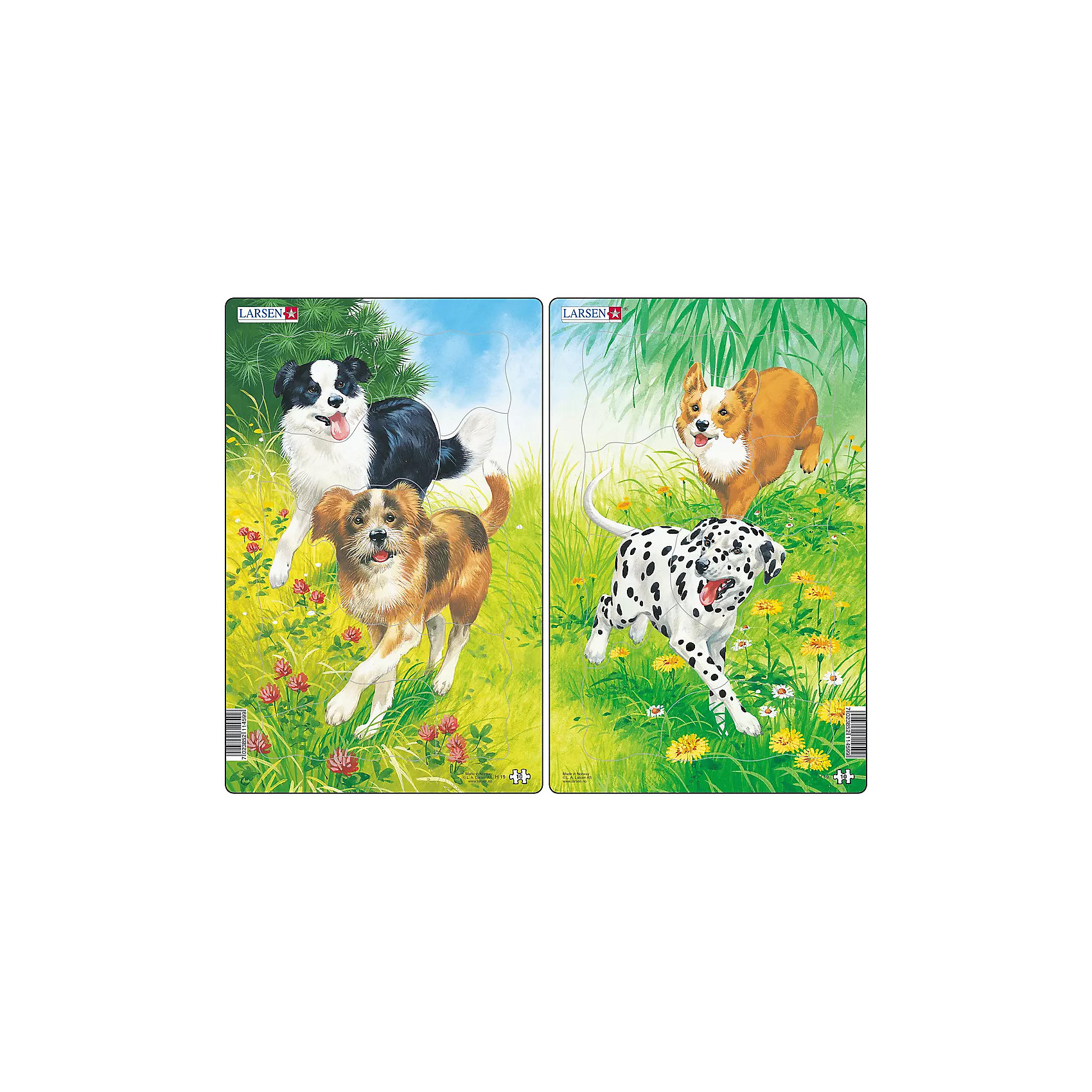 Larsen Пазл Собаки, 10 деталей, Larsen пазлы magic pazle объемный 3d пазл эйфелева башня 78x38x35 см