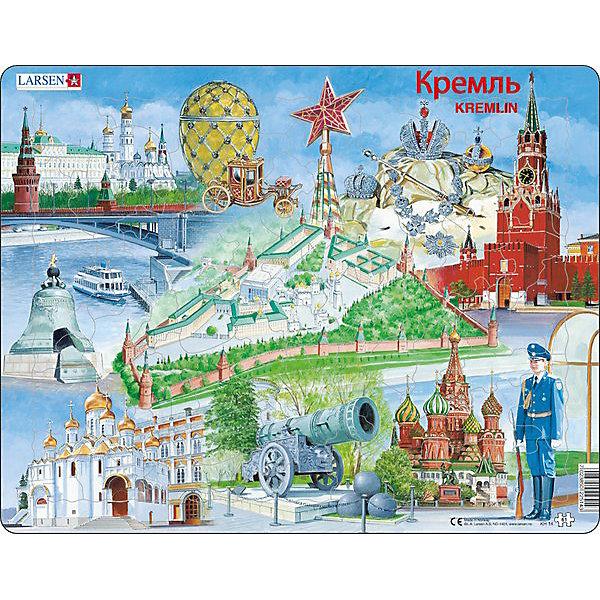 Пазл Кремль, 61 деталь, LarsenПазлы для малышей<br>Пазл «Кремль»<br><br>Ширина мм: 365<br>Глубина мм: 5<br>Высота мм: 285<br>Вес г: 320<br>Возраст от месяцев: 36<br>Возраст до месяцев: 1188<br>Пол: Унисекс<br>Возраст: Детский<br>SKU: 4761485