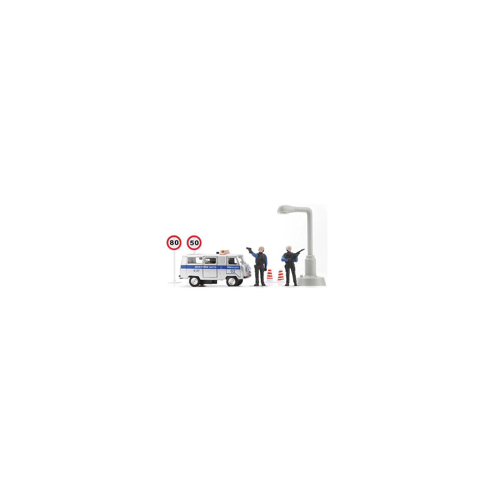 ТЕХНОПАРК Машина  Милиция/Полиция дежурная часть, свет+звук, ТЕХНОПАРК технопарк игровой набор полиция