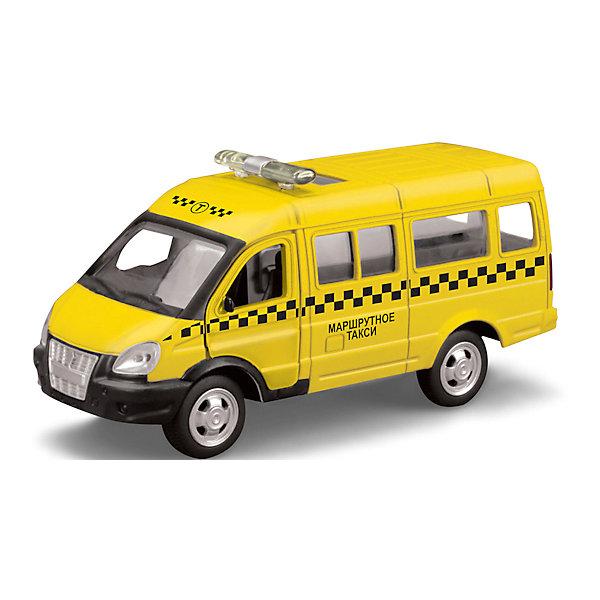 Машина Газель Такси, открыв.двери, инерц., ТЕХНОПАРКМашинки<br>Машина Газель Такси, открыв.двери, инерц., ТЕХНОПАРК.<br><br>Характеристики:<br><br>- Масштаб: 1:43<br>- Размер упаковки: 23x13,5x11 см.<br>- Материал: металл, пластик<br>- Инерционный механизм.<br>- Батарейка AG13 в комплекте<br>- Цвет: желтый.<br><br>Машина Газель Такси, открыв. двери, инерц., ТЕХНОПАРК - миниатюрная копия настоящего автомобиля в масштабе 1:43. . Модель выполнена  из пластика и металла. Игрушка представляет собой модель автомобиля спецтехники «Такси» на базе автомобиле «Газель». Она выполнена из качественного и безопасного пластика. Прорезиненные колеса машинки имеют свободный ход. Модель очень реалистична – открываются двери. Игрушка оснащена инерционным ходом. Машинку необходимо отвести назад, затем отпустить - и она быстро поедет вперед. Ваш ребенок сможет придумывать и обыгрывать различные игровые сюжеты. Порадуйте своего мальчика, подарив ему такую машинку!<br><br>Машина Газель Такси, открыв.двери, инерц., ТЕХНОПАРК можно купить в нашем интернет - магазине.<br><br>Ширина мм: 150<br>Глубина мм: 60<br>Высота мм: 130<br>Вес г: 200<br>Возраст от месяцев: 36<br>Возраст до месяцев: 120<br>Пол: Мужской<br>Возраст: Детский<br>SKU: 4763401