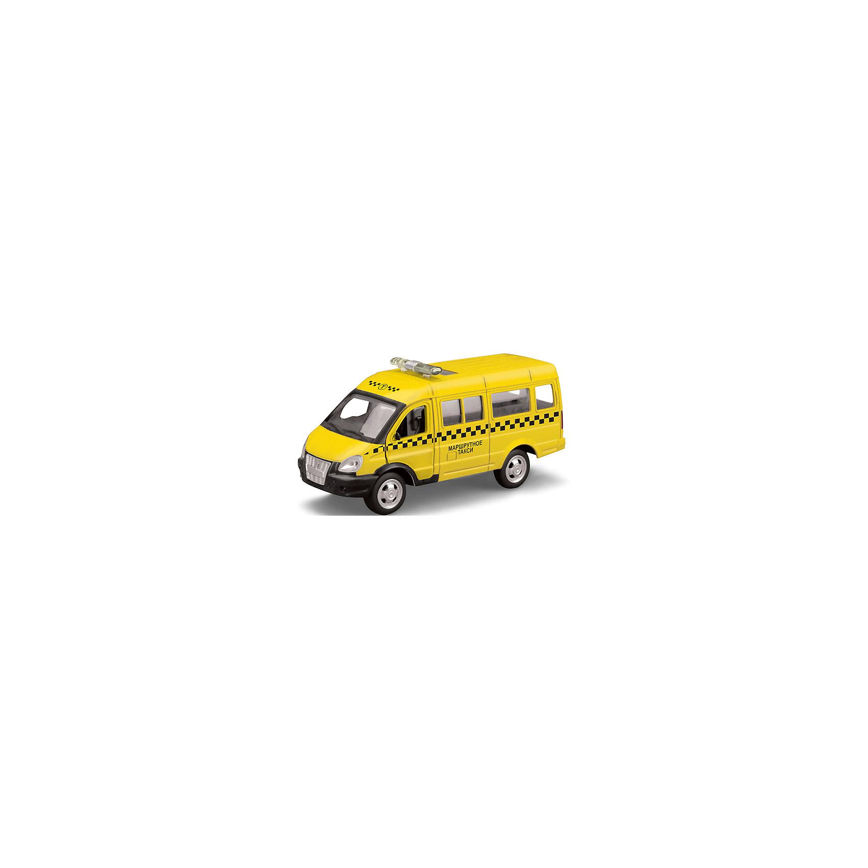 Машина Газель Такси, открыв.двери, инерц., ТЕХНОПАРКМашина Газель Такси, открыв.двери, инерц., ТЕХНОПАРК.<br><br>Характеристики:<br><br>- Масштаб: 1:43<br>- Размер упаковки: 23x13,5x11 см.<br>- Материал: металл, пластик<br>- Инерционный механизм.<br>- Батарейка AG13 в комплекте<br>- Цвет: желтый.<br><br>Машина Газель Такси, открыв. двери, инерц., ТЕХНОПАРК - миниатюрная копия настоящего автомобиля в масштабе 1:43. . Модель выполнена  из пластика и металла. Игрушка представляет собой модель автомобиля спецтехники «Такси» на базе автомобиле «Газель». Она выполнена из качественного и безопасного пластика. Прорезиненные колеса машинки имеют свободный ход. Модель очень реалистична – открываются двери. Игрушка оснащена инерционным ходом. Машинку необходимо отвести назад, затем отпустить - и она быстро поедет вперед. Ваш ребенок сможет придумывать и обыгрывать различные игровые сюжеты. Порадуйте своего мальчика, подарив ему такую машинку!<br><br>Машина Газель Такси, открыв.двери, инерц., ТЕХНОПАРК можно купить в нашем интернет - магазине.<br><br>Ширина мм: 150<br>Глубина мм: 60<br>Высота мм: 130<br>Вес г: 200<br>Возраст от месяцев: 36<br>Возраст до месяцев: 120<br>Пол: Мужской<br>Возраст: Детский<br>SKU: 4763401