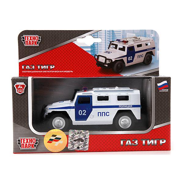 Машина ГАЗ Тигр Полиция,инерц., откр.двери, ТЕХНОПАРКМашинки<br>Характеристики машины ГАЗ Тигр Полиция:<br><br>- возраст: от 3 лет<br>- пол: для мальчиков<br>- модель: ГАЗ.<br>- материал: металл. пластик<br>- размер упаковки: 140* 7*180 см<br>- бренд: Технопарк<br><br>Металлическая машина в подарочной упаковке на русском языке, открывание дверей. Игрушка оснащена инерционным ходом. Для того чтобы автомобиль поехал вперед, необходимо его отвести назад, а затем резко отпустить. Прорезиненные колеса обеспечивают надежное сцепление с любой поверхностью пола. Набор является отличным подарком для юного гонщика.<br><br>Машину ГАЗ Тигр Полиция торговой марки Технопарк можно купить в нашем интернет-магазине.<br><br>Ширина мм: 70<br>Глубина мм: 180<br>Высота мм: 140<br>Вес г: 220<br>Возраст от месяцев: 36<br>Возраст до месяцев: 120<br>Пол: Мужской<br>Возраст: Детский<br>SKU: 4763404