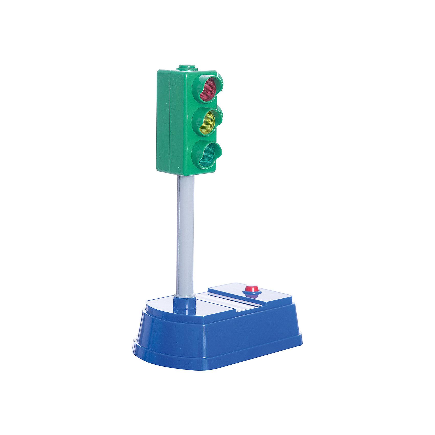 Светофор, 21см большой, свет+звук, ТЕХНОПАРККоврики и дорожные знаки<br>Светофор, 21см большой, свет+звук, ТЕХНОПАРК<br><br>Характеристики:<br><br>• Высота: 21 см<br>• Цвет: серый, синий, зеленый<br>• Возраст: от 3 лет<br>• Работает от батареек<br><br>Данная игрушка помогает ребенку узнать о правилах дорожного движения, закрепить цвета на светофоре и разобраться в системе кому и где загорается сигнал. Игрушка двусторонняя: с одной стороны - светофор для автомобилей, с другой - для пешеходов. Кнопка на панели переключает цвета, а система озвучивает цвет. Это помогает малышу в игровой форме выучить важное правило.<br><br>Светофор, 21см большой, свет+звук, ТЕХНОПАРК можно купить в нашем интернет-магазине.<br><br>Ширина мм: 150<br>Глубина мм: 260<br>Высота мм: 100<br>Вес г: 360<br>Возраст от месяцев: 36<br>Возраст до месяцев: 120<br>Пол: Мужской<br>Возраст: Детский<br>SKU: 4763408