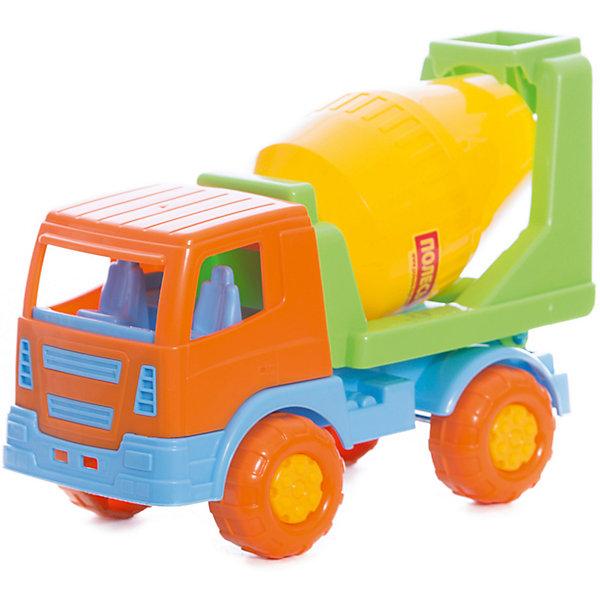Бетоновоз Салют, ПолесьеМашинки<br>Бетоновоз Салют, Полесье.<br><br>Характеристики:<br><br>- Размер игрушки: 22х11х15,5 см.<br>- Материал: пластик<br>- Упаковка: сетка<br><br>Яркий бетоновоз Салют от фирмы Полесье идеален для увлекательных игр на свежем воздухе или в помещении. Бетоновоз оснащен вращающейся ёмкостью для перевозки бетона. При подъеме кузова «бетонная смесь» из емкости выгружается. Кабина оснащена сиденьем. В нее можно посадить подходящую по размеру мини-фигурку. Благодаря пластиковым рельефным колесам со свободным ходом машина может легко преодолеть любые неровности почвы и отлично подходит для игр в песочнице. Игрушка изготовлена из безопасного пластика, отличается высокой прочностью и отличным качеством сборки.<br><br>Бетоновоз Салют, Полесье можно купить в нашем интернет-магазине.<br>Ширина мм: 220; Глубина мм: 110; Высота мм: 155; Вес г: 240; Возраст от месяцев: 36; Возраст до месяцев: 96; Пол: Мужской; Возраст: Детский; SKU: 4763431;