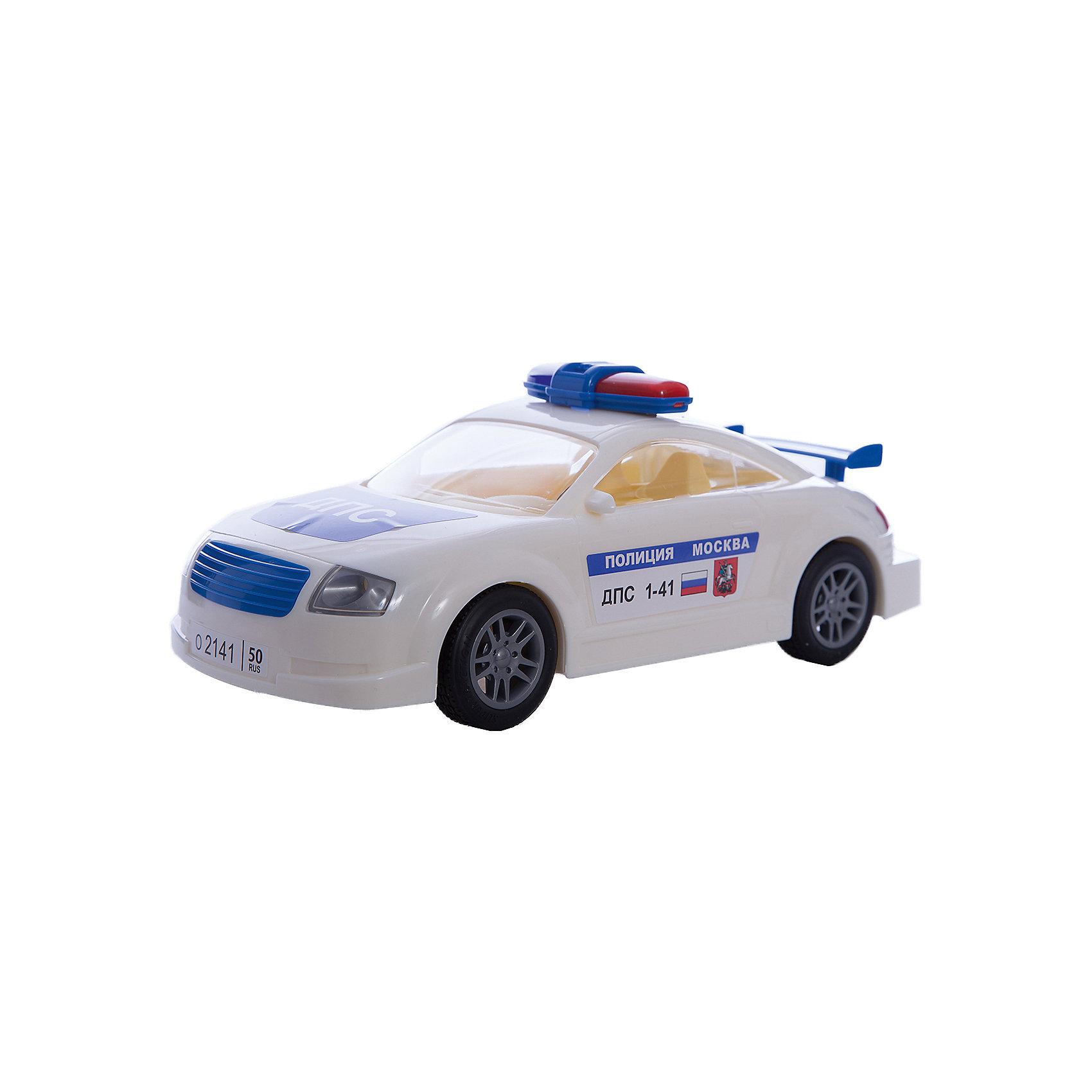 Автомобиль ДПС Москва, ПолесьеАвтомобиль ДПС Москва, Полесье.<br><br>Характеристики:<br><br>- Размер игрушки: 27х10,5х11 см.<br>- Материал: прочный пластик, резина<br><br>Инерционный автомобиль «ДПС Москва» - это точная копия настоящей машины. Он имеет мигалку, спойлер, резиновые колеса и очень реалистичную символику на корпусе. Инерционный механизм позволяет машине продолжать свое движение после запуска. Ребенок будет в восторге от игрушки, ведь на машине можно патрулировать улицы или устроить настоящую погоню за нарушителями.<br><br>Автомобиль ДПС Москва, Полесье можно купить в нашем интернет-магазине.<br><br>Ширина мм: 268<br>Глубина мм: 115<br>Высота мм: 100<br>Вес г: 330<br>Возраст от месяцев: 36<br>Возраст до месяцев: 96<br>Пол: Мужской<br>Возраст: Детский<br>SKU: 4763436