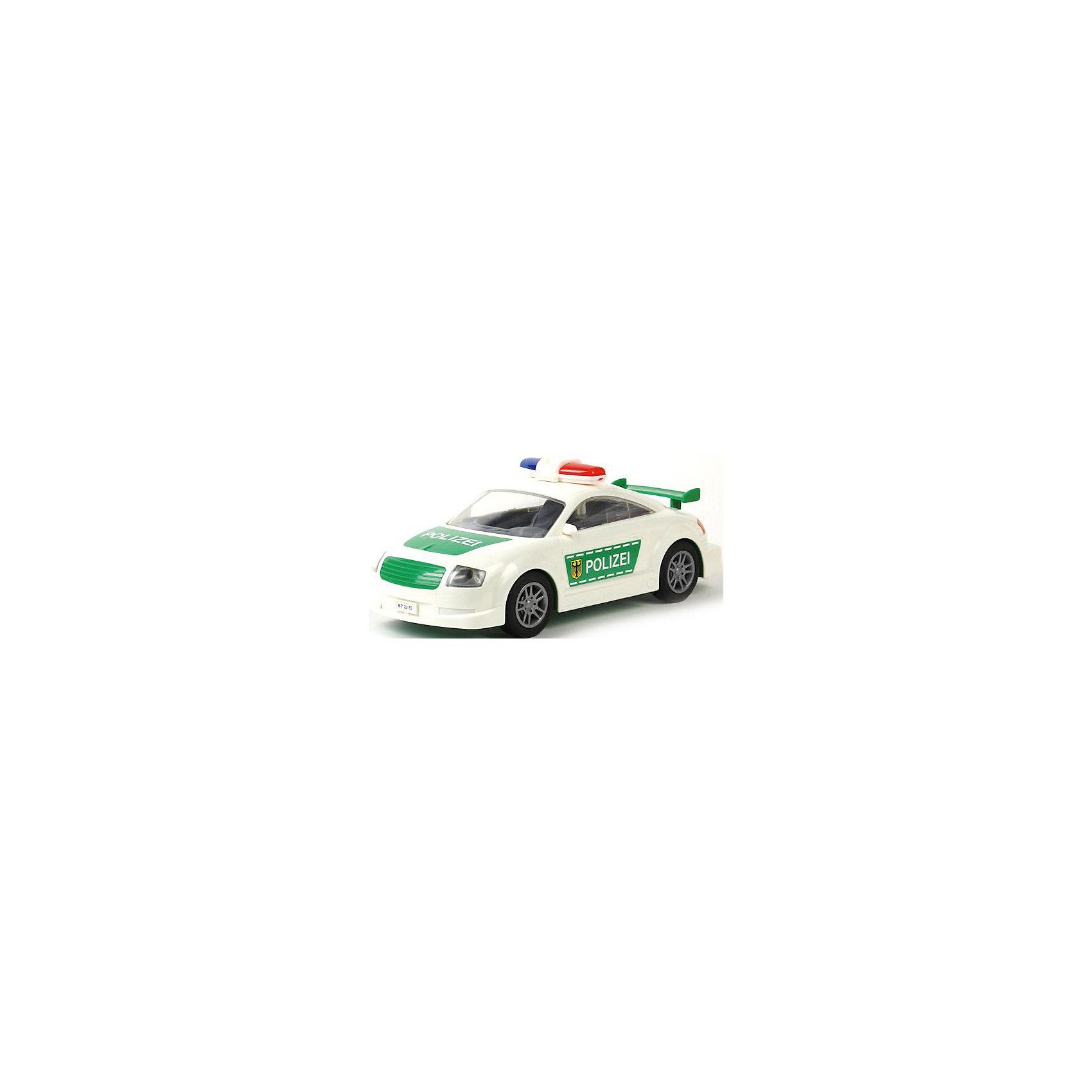 Автомобиль Полиция, инерционный, ПолесьеАвтомобиль Полиция, инерционный, Полесье.<br><br>Характеристики:<br><br>- Размер игрушки: 27х10,5х11 см.<br>- Материал: прочный пластик, резина<br><br>Инерционный автомобиль «Полиция» - это точная копия настоящей машины. Машина имеет мигалку, спойлер, резиновые колеса и очень реалистичную символику на корпусе. Инерционный механизм позволяет машине продолжать свое движение после запуска. Колеса надежно закреплены на металлических осях. Ребенок будет в восторге от игрушки, ведь на машине можно быстро домчаться на место преступления или устроить настоящую погоню за преступником.<br><br>Автомобиль Полиция, инерционный, Полесье можно купить в нашем интернет-магазине.<br><br>Ширина мм: 265<br>Глубина мм: 115<br>Высота мм: 100<br>Вес г: 330<br>Возраст от месяцев: 36<br>Возраст до месяцев: 96<br>Пол: Мужской<br>Возраст: Детский<br>SKU: 4763437