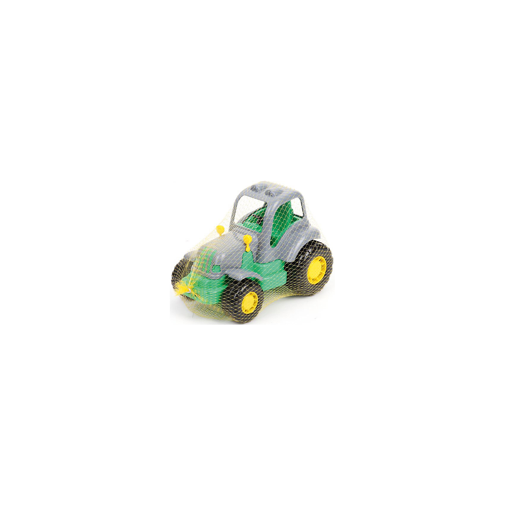 Трактор Крепыш, ПолесьеТрактор Крепыш, Полесье.<br><br>Характеристики:<br><br>- Размер игрушки: 21,2 х 13 х 13,7 см.<br>- Материал: пластик<br>- Упаковка: сетка<br><br>Яркий трактор Крепыш от фирмы Полесье идеален для игр дома и на улице. Трактор имеет пластиковые рельефные колеса со свободным ходом, которые обеспечивают отличную проходимость. Кабина оснащена рулем и сиденьем. В нее можно посадить подходящую по размеру мини-фигурку. Игрушка изготовлена из безопасного пластика, отличается высокой прочностью и отличным качеством сборки.<br><br>Трактор Крепыш, Полесье можно купить в нашем интернет-магазине.<br><br>Ширина мм: 212<br>Глубина мм: 130<br>Высота мм: 137<br>Вес г: 240<br>Возраст от месяцев: 36<br>Возраст до месяцев: 96<br>Пол: Мужской<br>Возраст: Детский<br>SKU: 4763441