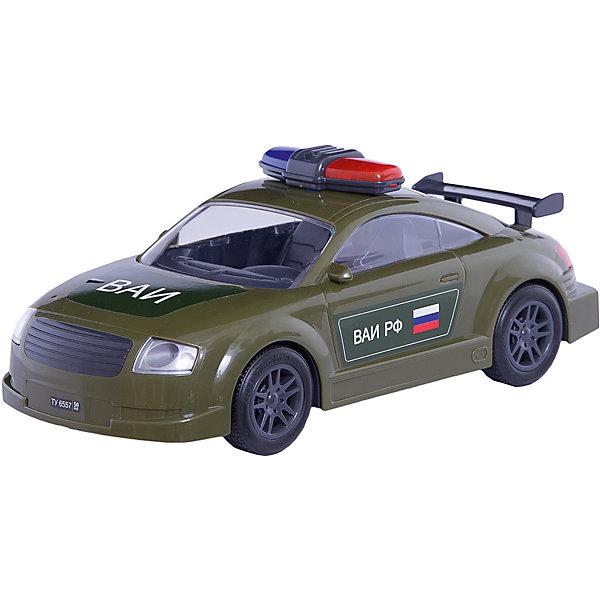 АвтомобильВоенная автоинспекция, инерц., ПолесьеВоенный транспорт<br>АвтомобильВоенная автоинспекция, инерц., Полесье.<br><br>Характеристики:<br><br>- Размер игрушки: 27х10,5х11 см.<br>- Материал: прочный пластик, резина<br><br>Инерционный автомобиль «Военная автоиспекция» - это точная копия настоящей машины. Машина имеет мигалку, спойлер, резиновые колеса и очень реалистичную символику на корпусе. Инерционный механизм позволяет машине продолжать свое движение после запуска. Колеса надежно закреплены на металлических осях. Ребенок будет в восторге от игрушки, ведь на машине можно сопровождать колонну военной техники или устроить настоящую погоню за нарушителями.<br><br>АвтомобильВоенная автоинспекция, инерц., Полесье можно купить в нашем интернет-магазине.<br>Ширина мм: 450; Глубина мм: 335; Высота мм: 265; Вес г: 370; Возраст от месяцев: 36; Возраст до месяцев: 96; Пол: Мужской; Возраст: Детский; SKU: 4763442;