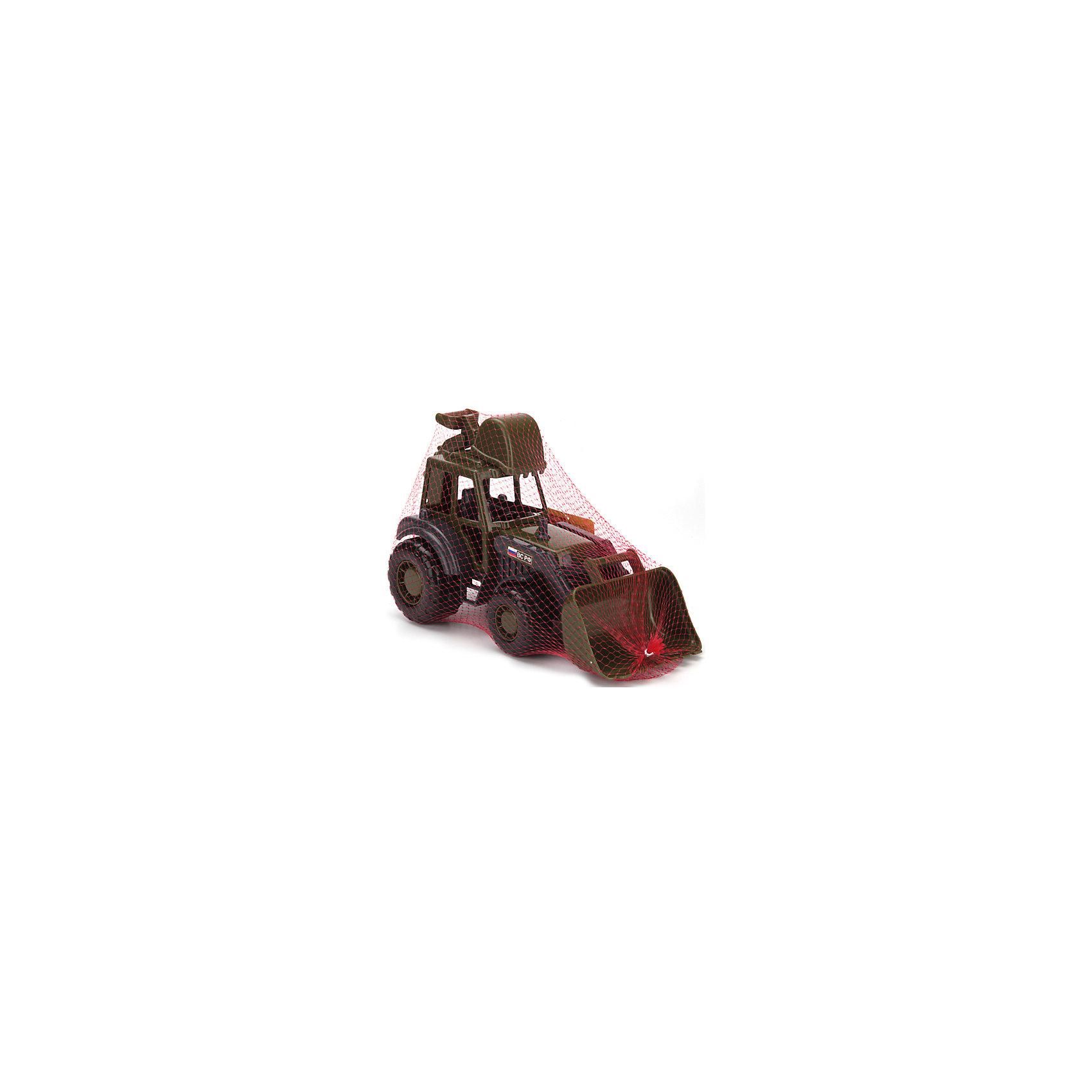 Военный экскаватор Мастер, ПолесьеВоенный транспорт<br>Военный экскаватор Мастер, Полесье.<br><br>Характеристики:<br><br>- Размер игрушки: 27,4х13х16,6 см.<br>- Материал: пластик<br>- Упаковка: сетка<br><br>Военный экскаватор Мастер от фирмы Полесье – это отличная игрушка для любителей военной техники. Машина отличается высокой степенью детализации и тщательной проработкой всех элементов. Корпус экскаватора окрашен в темно-зеленый цвет, на боку надпись ВС РФ. Экскаватор оборудован двумя подвижными ковшами: большим спереди и малым сзади. Кабина оснащена сиденьем. В нее можно посадить подходящую по размеру мини-фигурку. Благодаря пластиковым рельефным колесам со свободным ходом экскаватор может легко преодолеть любые неровности почвы и отлично подходит для игр в песочнице. Игрушка изготовлена из безопасного пластика, отличается высокой прочностью и отличным качеством сборки.<br><br>Военный экскаватор Мастер, Полесье можно купить в нашем интернет-магазине.<br><br>Ширина мм: 274<br>Глубина мм: 130<br>Высота мм: 166<br>Вес г: 300<br>Возраст от месяцев: 36<br>Возраст до месяцев: 96<br>Пол: Мужской<br>Возраст: Детский<br>SKU: 4763443
