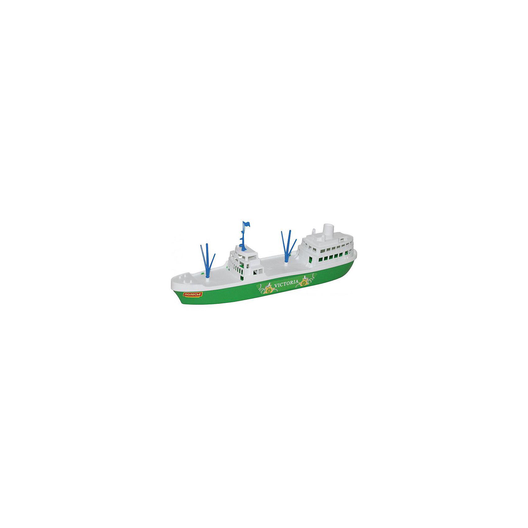 Корабль Виктория, ПолесьеКорабли и лодки<br>Корабль Виктория, Полесье.<br><br>Характеристики:<br><br>- Размер игрушки: 46,3х9,5х12,7 см.<br>- Материал: прочный пластик<br>- Упаковка: сетка<br><br>Корабль Виктория от торговой марки Полесье привлечёт к себе внимание своим красивым внешним видом и большим размером. На его палубе можно разместить фигурки любимых героев и отправить их в плавание. Играть этот красивый большой корабль ребёнок может в бассейне на даче, в ванной дома, на пляже у открытого водоёма. Игрушка изготовлена из безопасного пластика, отличается высокой прочностью и отличным качеством.<br><br>Корабль Виктория, Полесье можно купить в нашем интернет-магазине.<br><br>Ширина мм: 463<br>Глубина мм: 95<br>Высота мм: 127<br>Вес г: 200<br>Возраст от месяцев: 36<br>Возраст до месяцев: 96<br>Пол: Мужской<br>Возраст: Детский<br>SKU: 4763450