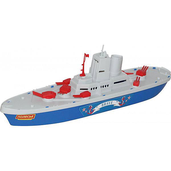 Крейсер Смелый, ПолесьеКорабли и лодки<br>Характеристики товара:<br><br>• возраст: от 3 лет<br>• материал: пластик<br>• размер игрушки: 47 x 9 x 13 см.<br>• страна обладатель бренда: Беларусь.<br><br>Крейсер Смелый представлен в виде большого морского судна, окрашенного в белый и синий цвета с добавлением красных элементов. Игрушка выполнена по подобию настоящего боевого надводного корабля, способного выполнять поставленные задачи вне зависимости от основного флота.<br><br>Модель корабля изготовлена из качественной пластмассы с хорошей детализацией. Игрушка довольно крупного размера - 47 см в длину. С таким крейсером мальчишки будут с удовольствием играть в морские бои, воображая себя великими адмиралами военно-морского флота.<br><br>Крейсер Смелый, Полесье можно купить в нашем интернет-магазине.<br><br>Ширина мм: 463<br>Глубина мм: 92<br>Высота мм: 135<br>Вес г: 330<br>Возраст от месяцев: 36<br>Возраст до месяцев: 96<br>Пол: Мужской<br>Возраст: Детский<br>SKU: 4763451