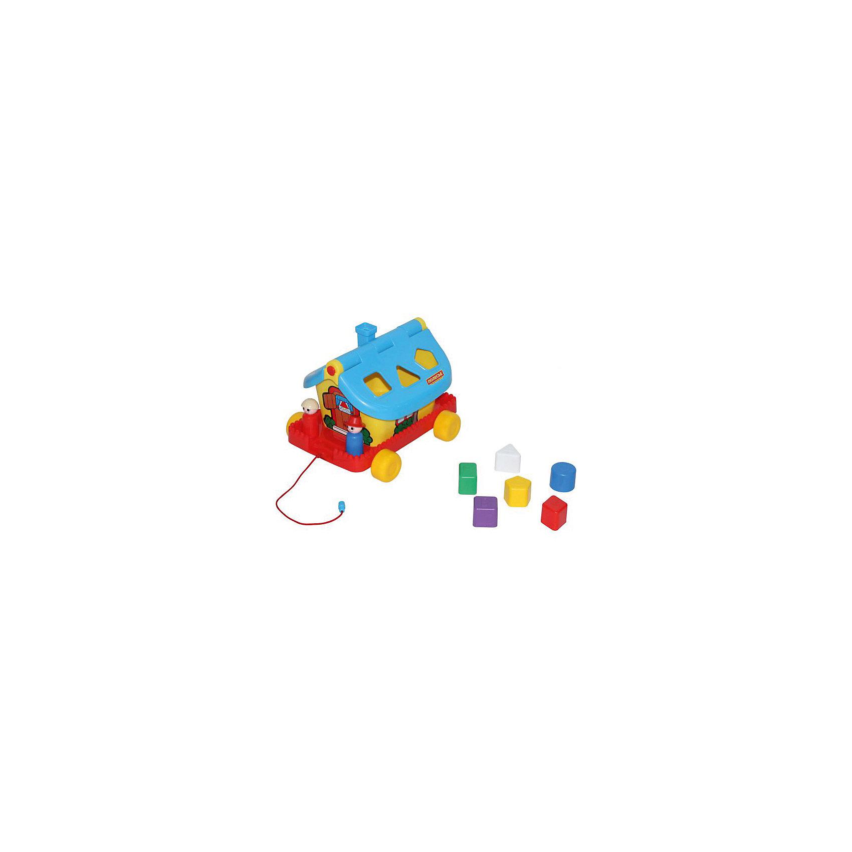 Садовый домик на колесиках, ПолесьеИгрушки-каталки<br>Садовый домик на колесиках, Полесье.<br><br>Характеристики:<br><br>-В наборе: каталка-домик, 6 разноцветных блоков, 2 фигурки человечков<br>- Размер домика: 27,6х22,5х20,5 см.<br>- Материал: высококачественная пластмасса<br>- Упаковка: сетка<br><br>Развивающая игрушка Садовый домик является одновременно каталкой и сортером. В наборе шесть разноцветных деталей различной формы, а в крыше домика есть отверстия, в которые нужно вставлять вкладыши: круг, ромб, треугольник, квадрат, прямоугольник, пятиугольник. Доставать детальки можно через открывающуюся крышу. В домике живут забавные персонажи – мальчик и девочка. Они легко устанавливаются на платформе при помощи специальных штырьков. Игрушка окрашена в яркие радужные цвета. Домик стоит на подставке с колесиками, при желании его можно катать за веревочку. Занятия с игрушкой развивают логическое мышление малыша, координацию движений и моторику рук, а также знакомит ребенка с геометрическими фигурами, цветами.<br><br>Садовый домик на колесиках, Полесье можно купить в нашем интернет-магазине.<br><br>Ширина мм: 276<br>Глубина мм: 225<br>Высота мм: 205<br>Вес г: 670<br>Возраст от месяцев: 24<br>Возраст до месяцев: 60<br>Пол: Унисекс<br>Возраст: Детский<br>SKU: 4763452