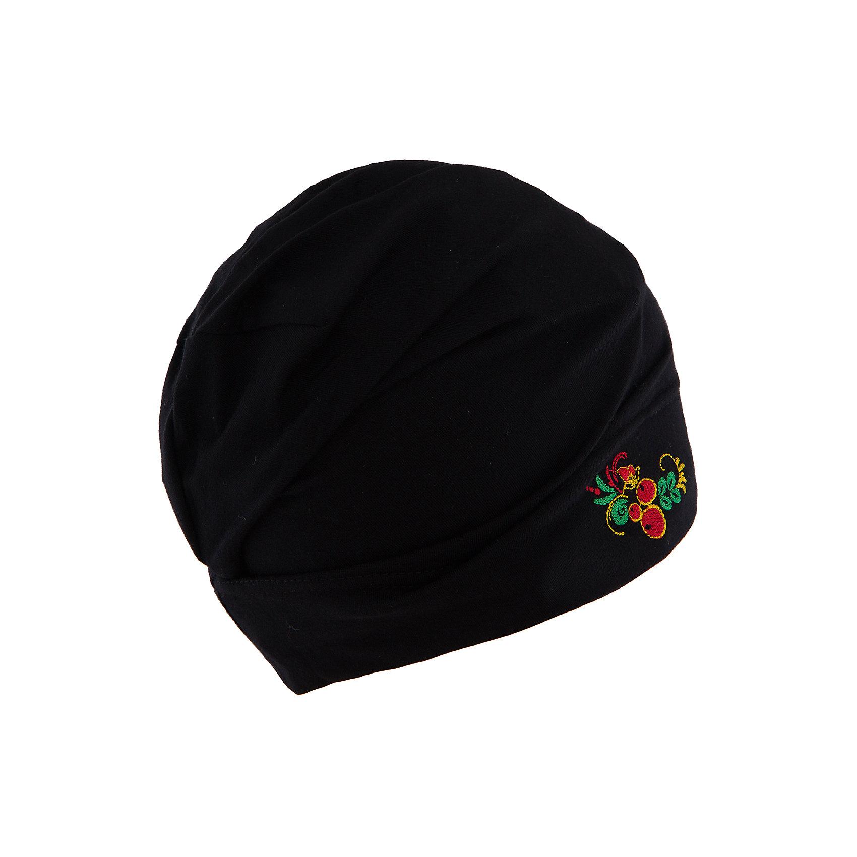 Шапочка для девочки АпрельКрасивая черная шапочка для девочки от торговой марки Апрель с ярким рисунком подойдет к любому гардеробу. Особенно гармонирует с вещами из одноименной коллекции Хохлома.<br><br>Дополнительная информация: <br><br>- коллекция: Хохлома<br>- пол:  для девочки<br>- вид изделия: головной убор<br>- цвет: черный<br>- возраст: детский<br>- состав: хлопок 100%<br>- ткань: кулир<br>- фирма-производитель: Апрель<br>- страна-производитель: Россия<br><br>Шапочку для девочки коллекции Хохлома от торговой марки Апрельможно купить в нашем интернет-магазине.<br><br>Ширина мм: 89<br>Глубина мм: 117<br>Высота мм: 44<br>Вес г: 155<br>Цвет: черный<br>Возраст от месяцев: 48<br>Возраст до месяцев: 60<br>Пол: Женский<br>Возраст: Детский<br>Размер: 52,54<br>SKU: 4763612