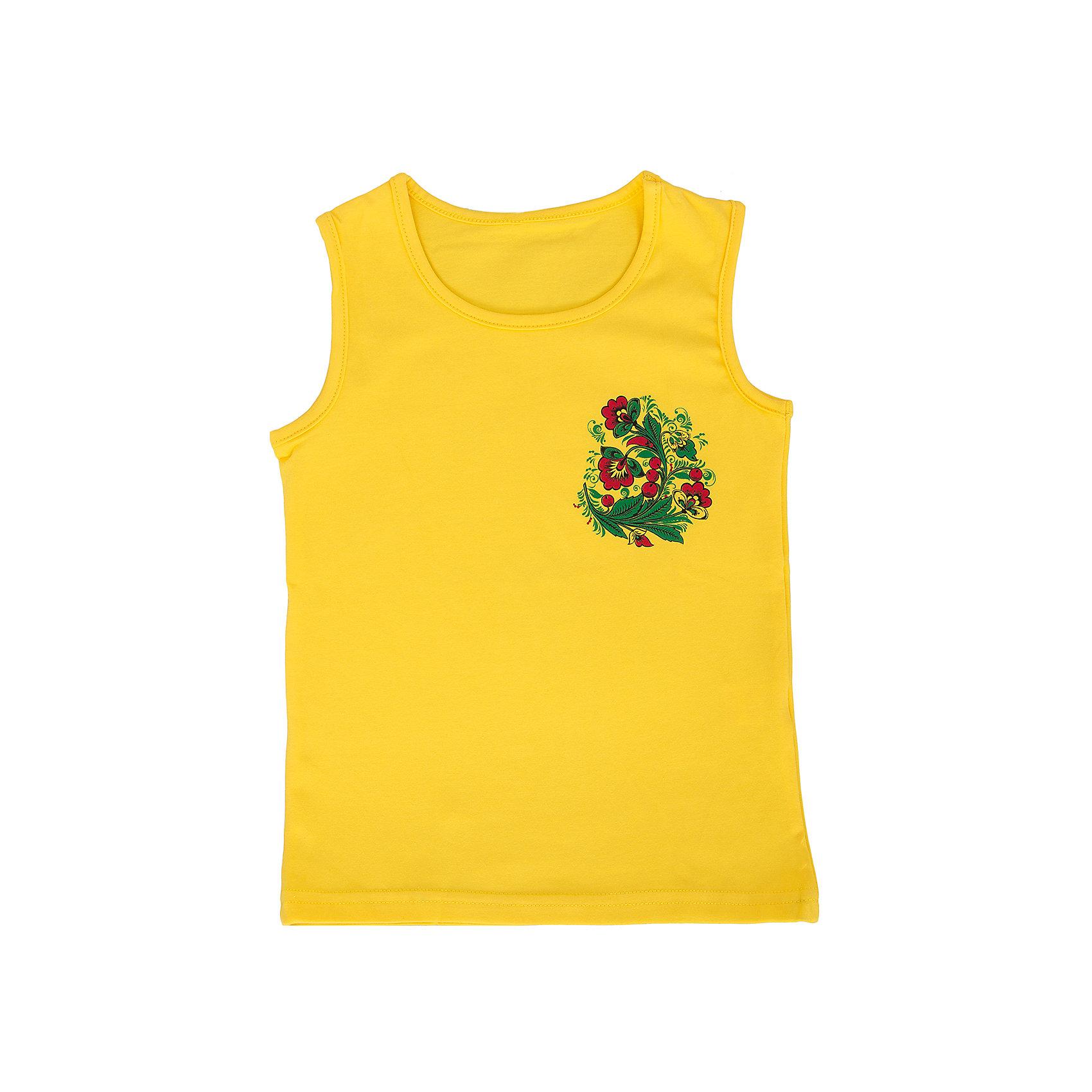 Майка для девочки АпрельФутболки, поло и топы<br>Яркая летняя майка от торговой марки Апрель идеально дополнит летний образ маленькой модницы. Майка для девочки идеально сочетается с лосинами и шапочками из одноименной коллекции Хохлома.<br><br>Дополнительная информация: <br><br>- цвет: желтый <br>- состав: 92% хлопок, 8% лайкра<br>- ткань: кулир<br>- фирма-производитель: Апрель<br>- страна-производитель: Россия<br>- коллекция: Хохлома<br><br>Майку коллекции Хохлома от торговой марки Апрель можно купить в нашем интернет-магазине.<br><br>Ширина мм: 196<br>Глубина мм: 10<br>Высота мм: 154<br>Вес г: 152<br>Цвет: желтый<br>Возраст от месяцев: 96<br>Возраст до месяцев: 108<br>Пол: Женский<br>Возраст: Детский<br>Размер: 140,122,134,128,116<br>SKU: 4763648
