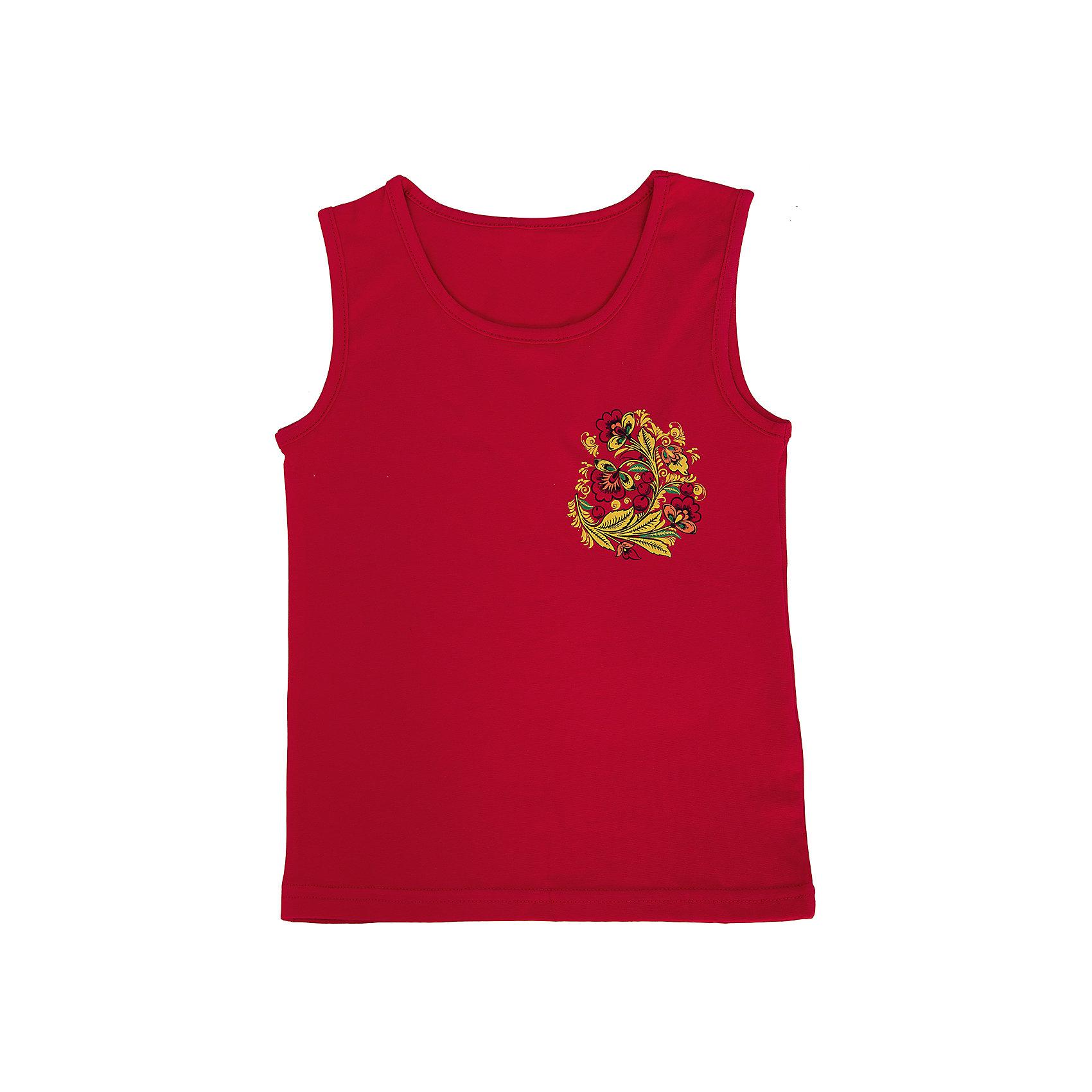 Майка для девочки АпрельЛетняя красная майка от торговой марки Апрель идеально дополнит летний образ маленькой модницы. Майка для девочки идеально сочетается с лосинами из одноименной коллекции Хохлома.<br><br>Дополнительная информация: <br><br>- цвет: красный <br>- состав: 92% хлопок, 8% лайкра<br>- ткань: кулир<br>- фирма-производитель: Апрель<br>- страна-производитель: Россия<br>- коллекция: Хохлома<br><br>Майку коллекции Хохлома от торговой марки Апрель можно купить в нашем интернет-магазине.<br><br>Ширина мм: 196<br>Глубина мм: 10<br>Высота мм: 154<br>Вес г: 152<br>Цвет: красный<br>Возраст от месяцев: 60<br>Возраст до месяцев: 72<br>Пол: Женский<br>Возраст: Детский<br>Размер: 116,140,128,134,122<br>SKU: 4763654
