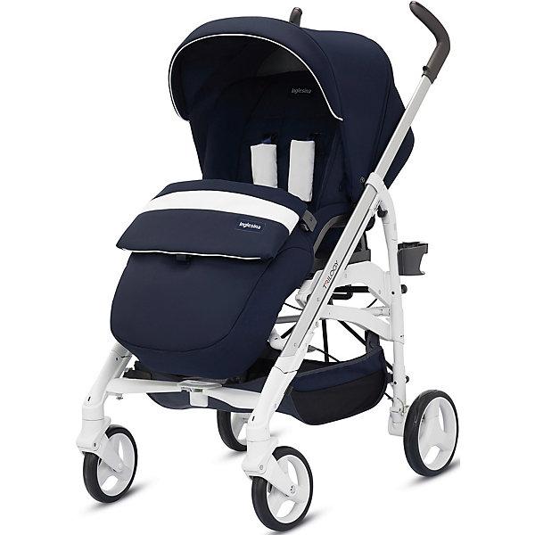 Прогулочная коляска Inglesina Trilogy, MarinaСезон осень-зима<br>Прогулочная коляска Trilogy - прекрасный вариант для малышей и их родителей! Модель имеет прочную алюминиевую раму, систему амортизации, передние поворотные колеса, с возможностью фиксации. Модель легко складывается, имеет ножной тормоз и небольшую ширину шасси, благодаря которой коляска войдет даже в самый узкий дверной проем. С помощью системы Easy Clips, прогулочный блок одним движением руки устанавливается и снимается с шасси. Прогулочный блок переставляется лицом к маме или по направлению движения Удобное сиденье, объемный капюшон со смотровым окошком, регулируемые подножка и спинка обеспечат малышу спокойный и комфортный отдых, а пятиточечные страховочные ремни с мягкими накладками и съемный бампер гарантируют безопасность. Чехол прогулочного блока выполнен из прочных материалов, он легко снимается и стирается в теплой воде. <br><br>Дополнительная информация:<br><br>- Материал: пластик, резина, текстиль, алюминий.<br>- Тип складывания: трость. <br>- Размер в разложенном виде: 83х57х107 см. <br>- Размер в сложенном виде: 48х37х97 см.<br>- Ширина шасси: 57 см.<br>- Количество колес: 4.<br>- Колеса с подшипниками. <br>- Диаметр колес: передних - 17,5 см; задних - 20,5 см.<br>- Вес: 9,5 кг.<br>- Передние колеса поворотные с возможностью фиксации. <br>- Регулируемая спинка (в 4-хположениях, до горизонтального).<br>- Регулируемая подножка (в 2-х положениях).<br>- 5-титочечные ремни безопасности.<br>- Съемный бампер.<br>- Капюшон со смотровым окошком. <br>- Регулируемая по высоте ручка. <br>- Максимальный вес ребенка: 15 кг. <br>- Вместительная корзина для вещей. <br>- Комплектация: накидка на ножки, дождевик, подстаканник. <br><br>Прогулочную коляску Trilogy, Inglesina (Инглезина), Marina, можно купить в нашем магазине.<br><br>Ширина мм: 1000<br>Глубина мм: 324<br>Высота мм: 415<br>Вес г: 13150<br>Возраст от месяцев: 6<br>Возраст до месяцев: 36<br>Пол: Унисекс<br>Возраст: Детский<br>SKU: 4764226