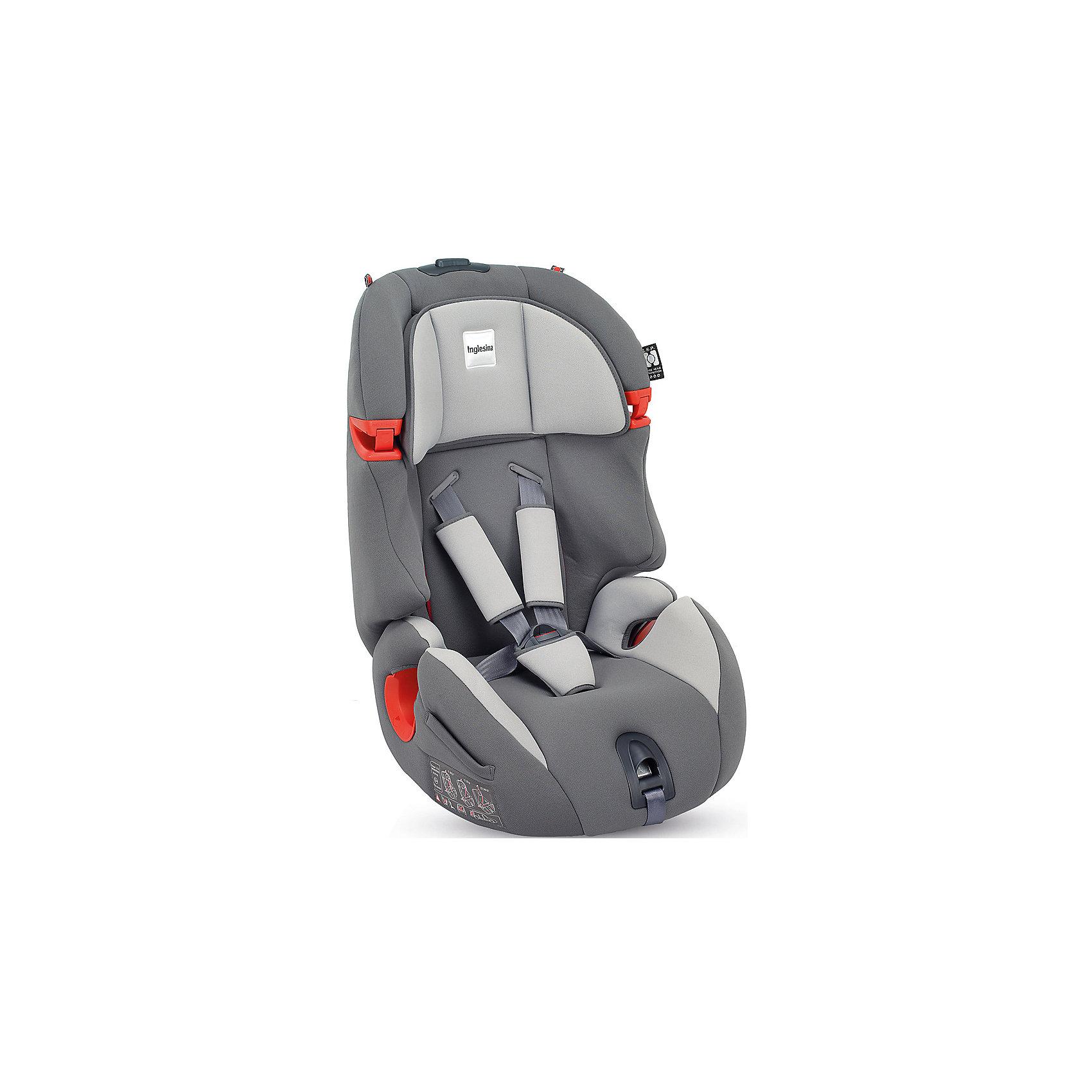 Автокресло Inglesina Prime Miglia 9-36 кг, GreyГруппа 1-2-3 (От 9 до 36 кг)<br>Автокресло Prime Miglia - прекрасный вариант для поездок и путешествий. Сначала дети фиксируются в кресле внутренними ремнями с мягкими накладками, а когда ребенок подрастет (достигнет роста более 1 м) - обычными штатными ремнями автомобиля. Технология Side Head Protection защитит малышей от боковых ударов. Подголовник в Inglesina Prime Miglia можно регулировать по ширине. Он жёстко соединён со спинкой, поэтому регулировка высоты конструктивно осуществляется поднятием спинки. Кресло обладает удобной универсальной конструкцией и приятной на ощупь обивкой. Чехлы сшиты из практичной и прочной ткани. Их можно снимать и стирать в режиме деликатной стирки. <br><br>Дополнительная информация:<br><br>- Материал: текстиль, пластик, металл.<br>- Размер: 44x70x45 см.<br>- Вес: 6,9 кг.<br>- Может трансформироваться в бустер. <br>- Группа 1/2/3 (9-36 кг).<br>- Устанавливается по ходу  движения. <br>-  Внутренние пятиточечные ремни безопасности для малышей.<br>- Регулировка наклона спинки (в 6 положениях).<br>- Регулируемый подголовник (4 вертикальных положения, 5 горизонтальных положения.<br>- Съемные чехлы.<br><br>Автокресло Prime Miglia  9-36 кг., Inglesina (Инглезина), Grey, можно купить в нашем магазине.<br><br>Ширина мм: 480<br>Глубина мм: 465<br>Высота мм: 845<br>Вес г: 8100<br>Возраст от месяцев: 9<br>Возраст до месяцев: 144<br>Пол: Унисекс<br>Возраст: Детский<br>SKU: 4764261