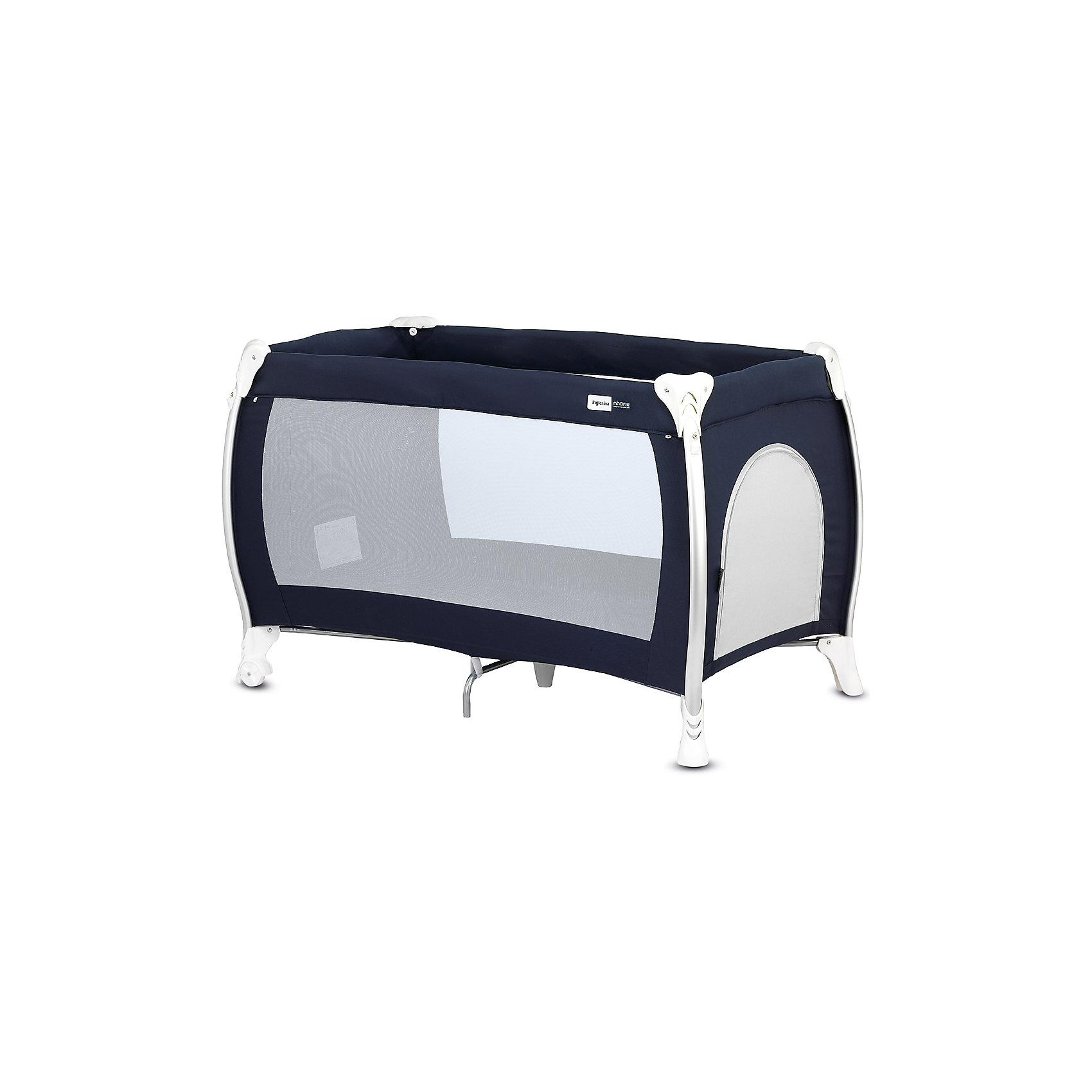 Манеж-кровать Lodge, Inglesina, blueМанеж-кровать Daily Plus - прекрасный вариант для малышей. Модель имеет 2 колесика со стопорами для удобного перемещения манежа. Стенки из сетчатого материала обеспечивают хорошую вентиляцию и обзор, дополнительные ножки-упоры гарантируют устойчивость и безопасность даже самым непоседливым малышам.  Манеж-кровать быстро и компактно складывается, колесики позволяют также перемещать модель в сложенном виде. В производстве изделия использованы только экологичные, безопасные для детей материалы. <br><br>Дополнительная информация:<br><br>- Материал: текстиль, пластик, металл. <br>- Размер: 79x126x72 см. <br>- Размер в сложенном виде: 26x79x26 см. <br>- 2 колесика для удобного перемещения.<br>- Дополнительные ножки-упоры. <br>- Регулировка по высоте (в 2 положениях).<br>- Легко и компактно складывается. <br>- Боковая дверца на молнии. <br>- Для детей от рождения и до 3 лет (весом до 14 кг).<br>- Комплектация: кроватка, основание под матрас, матрас <br>опоры для верхнего яруса,  трубы для дна верхнего яруса <br>москитная сетка,  сумка для транспортировки кроватки,  боковой карман.<br><br>Манеж-кровать Lodge, Inglesina (Инглезина), можно купить в нашем магазине.<br><br>Ширина мм: 250<br>Глубина мм: 250<br>Высота мм: 805<br>Вес г: 10300<br>Возраст от месяцев: 0<br>Возраст до месяцев: 36<br>Пол: Унисекс<br>Возраст: Детский<br>SKU: 4764279