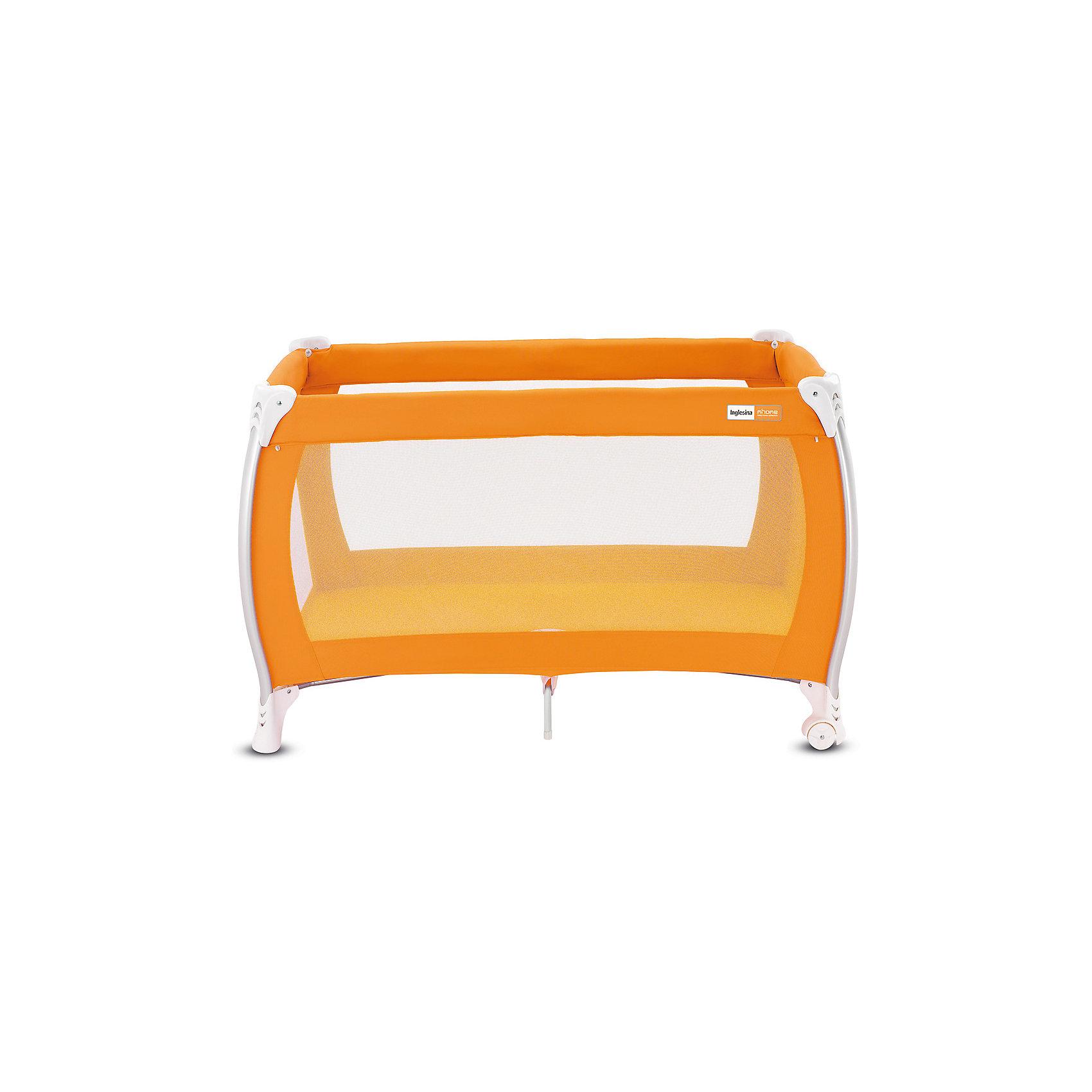 Манеж-кровать Lodge, Inglesina, orangeМанеж-кровать Daily Plus - прекрасный вариант для малышей. Модель имеет 2 колесика со стопорами для удобного перемещения манежа. Стенки из сетчатого материала обеспечивают хорошую вентиляцию и обзор, дополнительные ножки-упоры гарантируют устойчивость и безопасность даже самым непоседливым малышам.  Манеж-кровать быстро и компактно складывается, колесики позволяют также перемещать модель в сложенном виде. В производстве изделия использованы только экологичные, безопасные для детей материалы. <br><br>Дополнительная информация:<br><br>- Материал: текстиль, пластик, металл. <br>- Размер: 79x126x72 см. <br>- Размер в сложенном виде: 26x79x26 см. <br>- 2 колесика для удобного перемещения.<br>- Дополнительные ножки-упоры. <br>- Регулировка по высоте (в 2 положениях).<br>- Легко и компактно складывается. <br>- Боковая дверца на молнии. <br>- Для детей от рождения и до 3 лет (весом до 14 кг).<br>- Комплектация: кроватка, основание под матрас, матрас <br>опоры для верхнего яруса,  трубы для дна верхнего яруса <br>москитная сетка,  сумка для транспортировки кроватки,  боковой карман.<br><br>Манеж-кровать Lodge, Inglesina (Инглезина), можно купить в нашем магазине.<br><br>Ширина мм: 250<br>Глубина мм: 250<br>Высота мм: 805<br>Вес г: 10300<br>Возраст от месяцев: 0<br>Возраст до месяцев: 36<br>Пол: Унисекс<br>Возраст: Детский<br>SKU: 4764282