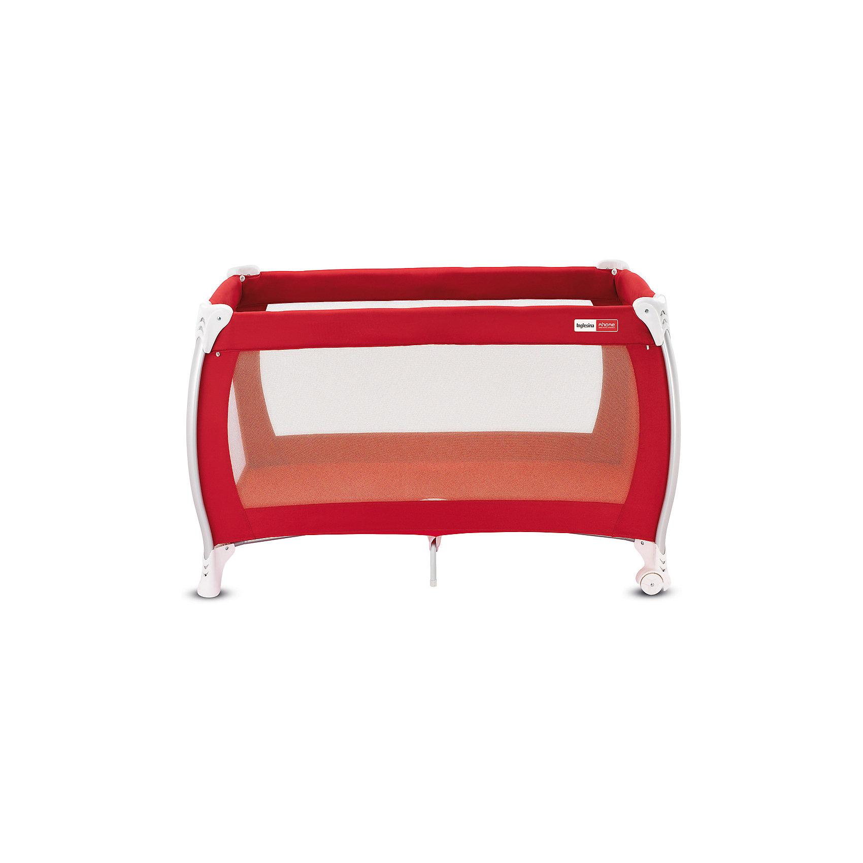 Манеж-кровать Lodge, Inglesina, redМанеж-кровать Daily Plus - прекрасный вариант для малышей. Модель имеет 2 колесика со стопорами для удобного перемещения манежа. Стенки из сетчатого материала обеспечивают хорошую вентиляцию и обзор, дополнительные ножки-упоры гарантируют устойчивость и безопасность даже самым непоседливым малышам.  Манеж-кровать быстро и компактно складывается, колесики позволяют также перемещать модель в сложенном виде. В производстве изделия использованы только экологичные, безопасные для детей материалы. <br><br>Дополнительная информация:<br><br>- Материал: текстиль, пластик, металл. <br>- Размер: 79x126x72 см. <br>- Размер в сложенном виде: 26x79x26 см. <br>- 2 колесика для удобного перемещения.<br>- Дополнительные ножки-упоры. <br>- Регулировка по высоте (в 2 положениях).<br>- Легко и компактно складывается. <br>- Боковая дверца на молнии. <br>- Для детей от рождения и до 3 лет (весом до 14 кг).<br>- Комплектация: кроватка, основание под матрас, матрас <br>опоры для верхнего яруса,  трубы для дна верхнего яруса <br>москитная сетка,  сумка для транспортировки кроватки,  боковой карман.<br><br>Манеж-кровать Lodge, Inglesina (Инглезина), можно купить в нашем магазине.<br><br>Ширина мм: 250<br>Глубина мм: 250<br>Высота мм: 805<br>Вес г: 10300<br>Возраст от месяцев: 0<br>Возраст до месяцев: 36<br>Пол: Унисекс<br>Возраст: Детский<br>SKU: 4764283