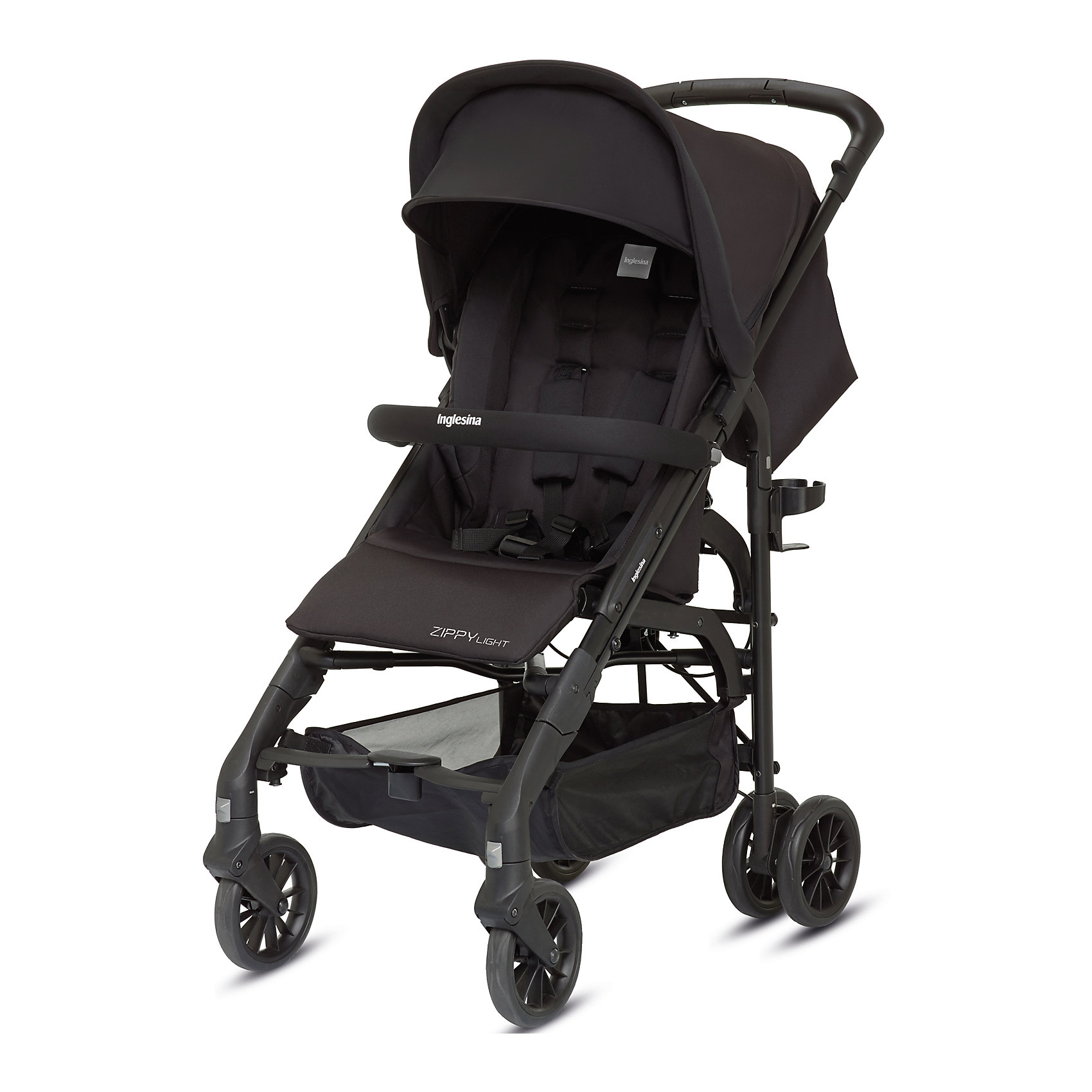 Inglesina Прогулочная коляска Zippy Light, Inglesina, Total Black прогулочная коляска cool baby kdd 6699gb t fuchsia light grey
