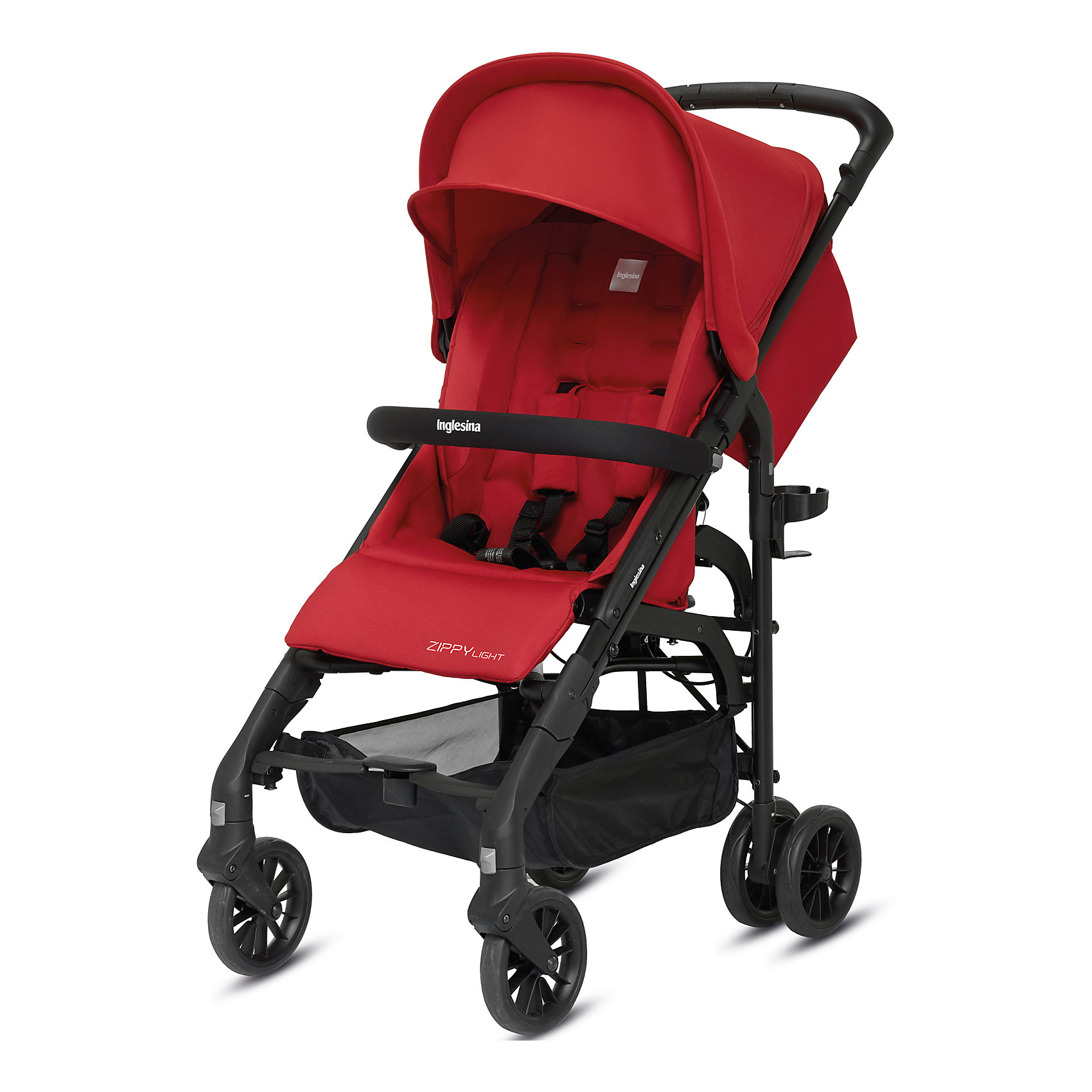 Inglesina Прогулочная коляска Zippy Light, Inglesina, Vivid Red прогулочная коляска cool baby kdd 6699gb t fuchsia light grey