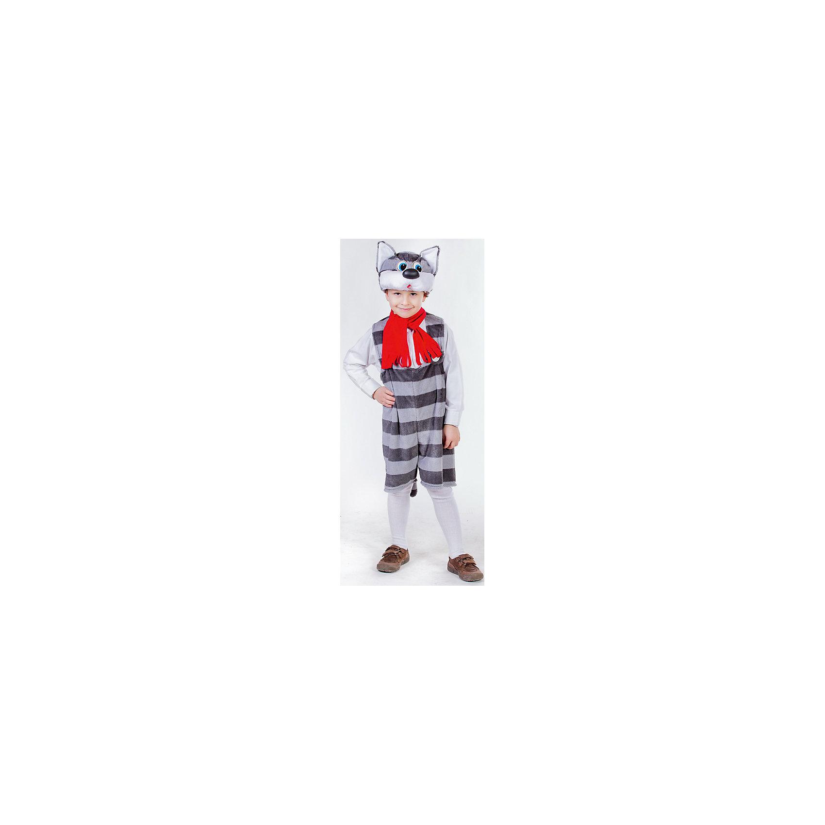 Карнавальный костюм Кот Матрос, КарнавалияКарнавальный костюм Кот Матрос представляет собой маскарадный наряд в образе кота Матроскина из всеми известного советского мультфильма Простоквашино.<br><br>Костюм выполнен в сером цвете в полоску. На шапке изображена мордочка удивленного кота с острыми ушками и большим черным носом. У комбинезона имеется застежка в виде молнии. <br><br>Дополнительная информация:<br><br>Комплект: маска-шапочка, комбинезон.<br>Из чего сделана игрушка (состав): текстиль, пластик, искусственный мех.<br>Рост: 122 см.<br>Страна обладатель бренда: Россия.<br>Внимание! Шарфик в комплект не входит.<br><br>Карнавальный костюм Кот Матрос  можно купить в нашем интернет-магазине.<br><br>Ширина мм: 300<br>Глубина мм: 50<br>Высота мм: 280<br>Вес г: 375<br>Цвет: разноцветный<br>Возраст от месяцев: 36<br>Возраст до месяцев: 84<br>Пол: Унисекс<br>Возраст: Детский<br>Размер: 122/128<br>SKU: 4764388