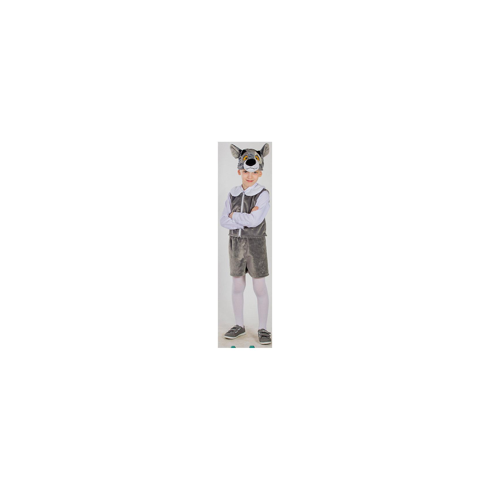 Карнавальный костюм Волчонок, КарнавалияМаски и карнавальные костюмы<br>Карнавальный костюм Волчонок, Карнавалия - симпатичный карнавальный костюм, который поможет создать необходимый образ для праздника.<br><br>Дополнительная информация:<br><br>В комплект входит: шорты, жилет, шапочка.<br>Материал: 100% полиэстер.<br><br>Карнавальный костюм Волчонок, Карнавалия можно купить в нашем интернет-магазине.<br><br>Ширина мм: 460<br>Глубина мм: 90<br>Высота мм: 360<br>Вес г: 375<br>Цвет: белый<br>Возраст от месяцев: 36<br>Возраст до месяцев: 84<br>Пол: Унисекс<br>Возраст: Детский<br>Размер: 122/128<br>SKU: 4764392