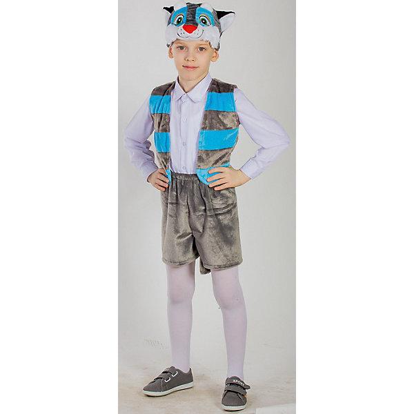 Карнавальный костюм Котенок, КарнавалияКарнавальные костюмы для мальчиков<br>Карнавальный костюм Котенок, Карнавалия - симпатичный карнавальный костюм для мальчика, состоящий из 3х предметов: шапочка, жилет, шорты).<br><br>Материал: 100% полиэстер <br>Возраст: 4-7 лет <br>Рост: 122-128 см <br>Цвет: серый <br>Вес: 280 г<br><br>Карнавальный костюм Котенок, Карнавалия можно купить в нашем интернет-магазине.<br><br>Ширина мм: 380<br>Глубина мм: 70<br>Высота мм: 330<br>Вес г: 375<br>Возраст от месяцев: 36<br>Возраст до месяцев: 84<br>Пол: Унисекс<br>Возраст: Детский<br>Размер: 122/128<br>SKU: 4764394