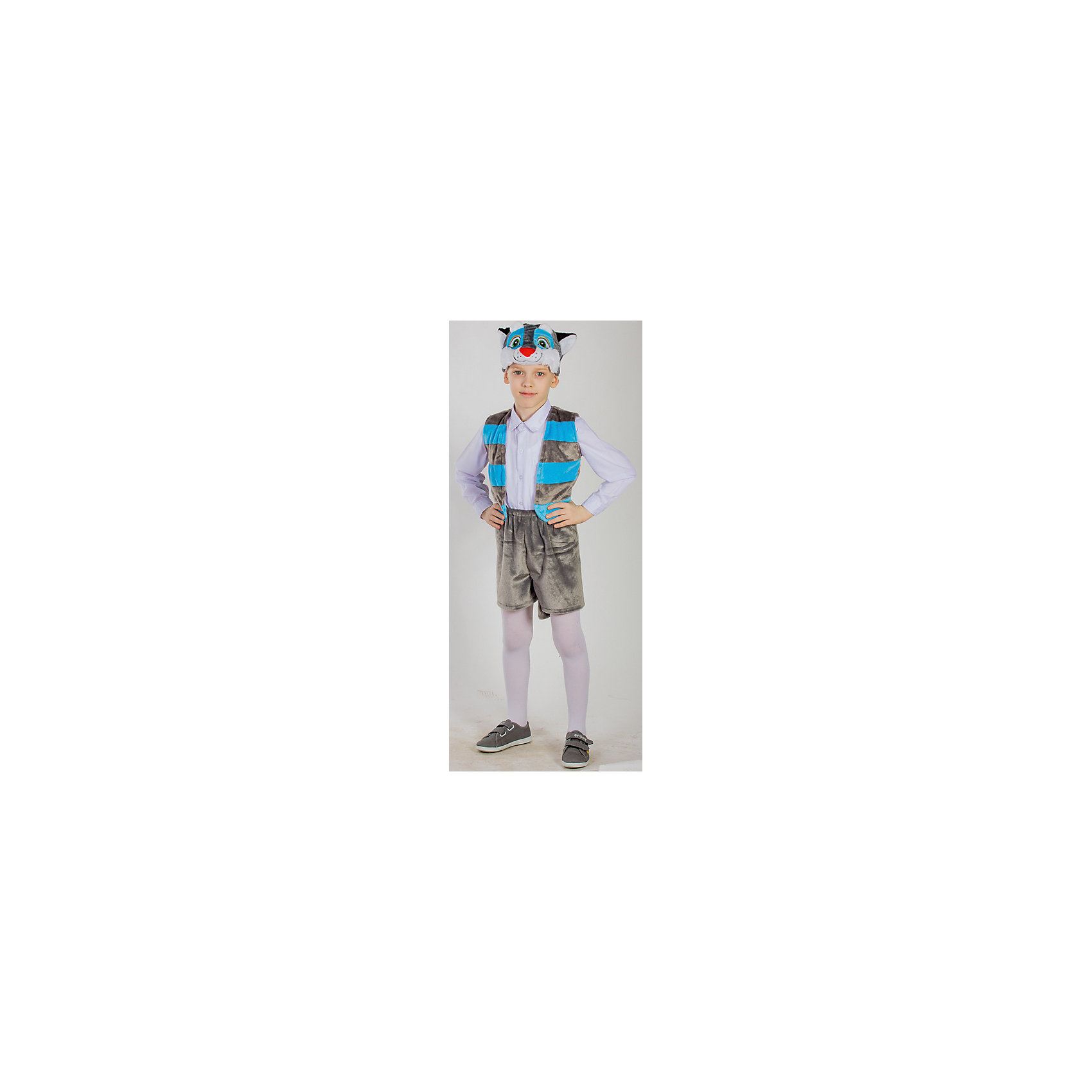 Карнавальный костюм Котенок, КарнавалияМаски и карнавальные костюмы<br>Карнавальный костюм Котенок, Карнавалия - симпатичный карнавальный костюм для мальчика, состоящий из 3х предметов: шапочка, жилет, шорты).<br><br>Материал: 100% полиэстер <br>Возраст: 4-7 лет <br>Рост: 122-128 см <br>Цвет: серый <br>Вес: 280 г<br><br>Карнавальный костюм Котенок, Карнавалия можно купить в нашем интернет-магазине.<br><br>Ширина мм: 380<br>Глубина мм: 70<br>Высота мм: 330<br>Вес г: 375<br>Цвет: разноцветный<br>Возраст от месяцев: 36<br>Возраст до месяцев: 84<br>Пол: Унисекс<br>Возраст: Детский<br>Размер: 122/128<br>SKU: 4764394
