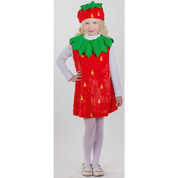 Карнавальный костюм Клубничка, КарнавалияКарнавальные костюмы для девочек<br>Карнавальный костюм Клубничка, Карнавалия - симпатичный карнавальный костюм, который поможет создать девочке нужный образ к празднику.<br><br>В комплект входит: платье и шапочка.<br>Материал: 100% полиэстер.<br><br>Карнавальный костюм Клубничка, Карнавалия можно купить в нашем интернет-магазине.<br><br>Ширина мм: 300<br>Глубина мм: 30<br>Высота мм: 280<br>Вес г: 375<br>Возраст от месяцев: 36<br>Возраст до месяцев: 84<br>Пол: Женский<br>Возраст: Детский<br>Размер: 122/128<br>SKU: 4764398