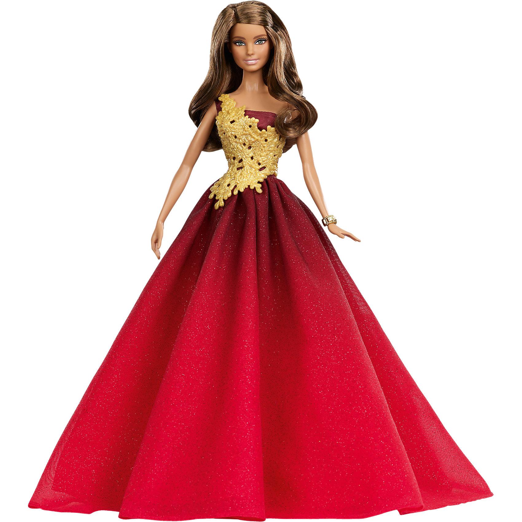 Mattel Праздничная Barbie в красном платье  недорого