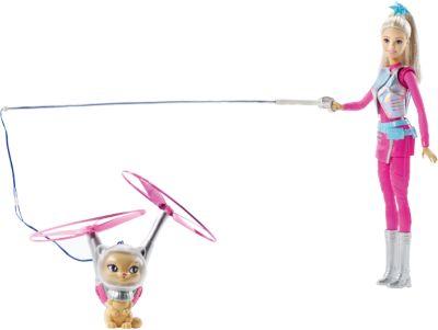 Mattel Кукла с летающим котом Попкорном из серии Barbie и космические приключения