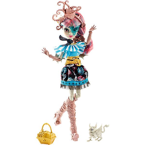 Кукла Рошель Гойл из серии Пиратская авантюра, Monster HighПопулярные игрушки<br>Рошель Гойл, дочери горгульи на этот раз предстоит найти выход с необитаемого острова после кораблекрушения. И, конечно же, не обойдется без поиска сокровищ! Кукла одета в стильное платье с рюшами и поясом в виде якоря. Сапожки и сумочка в форме сундучка украшены драгоценными камнями. Модная шляпка-осьминог, питомец и маска в виде сердечка подчеркивают оригинальность образа настоящей пиратки. <br><br>Дополнительная информация:<br>Материал: пластик<br>Требуется подставка<br>Куклу Рошель Гойл(Monster High) можно купить в нашем интернет-магазине.<br><br>Ширина мм: 203<br>Глубина мм: 64<br>Высота мм: 324<br>Вес г: 500<br>Возраст от месяцев: 72<br>Возраст до месяцев: 144<br>Пол: Женский<br>Возраст: Детский<br>SKU: 4765360