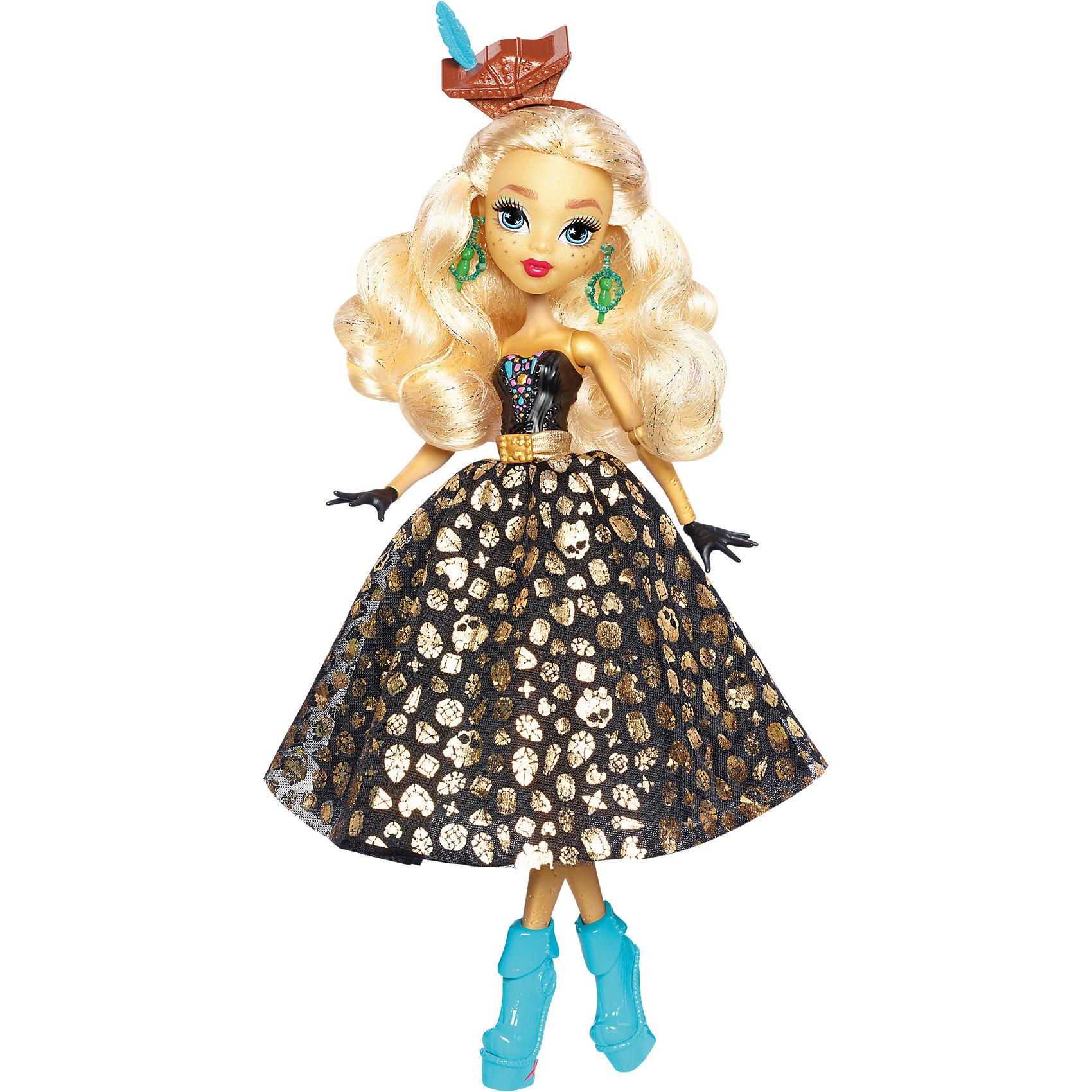 Кукла Дана Джонс из серии Пиратская авантюра, Monster HighMonster High<br>Дане Джонс, дочери легендарного пирата на этот раз предстоит найти выход с необитаемого острова после кораблекрушения. И, конечно же, не обойдется без поиска сокровищ! Ребенок по достоинству сможет оценить уникальный наряд куклы. Синяя юбка с картой сокровищ легким движением руки превращается в черную юбку с блестящими черепами. А в подошве и в шляпке-сундучке вы найдете золотые монеты.<br>Дополнительная информация:<br>Материал: пластик<br>Требуется подставка<br>Куклу Дана Джонс(Monster High) можно купить в нашем интернет-магазине.<br><br>Ширина мм: 329<br>Глубина мм: 203<br>Высота мм: 66<br>Вес г: 247<br>Возраст от месяцев: 72<br>Возраст до месяцев: 120<br>Пол: Женский<br>Возраст: Детский<br>SKU: 4765363