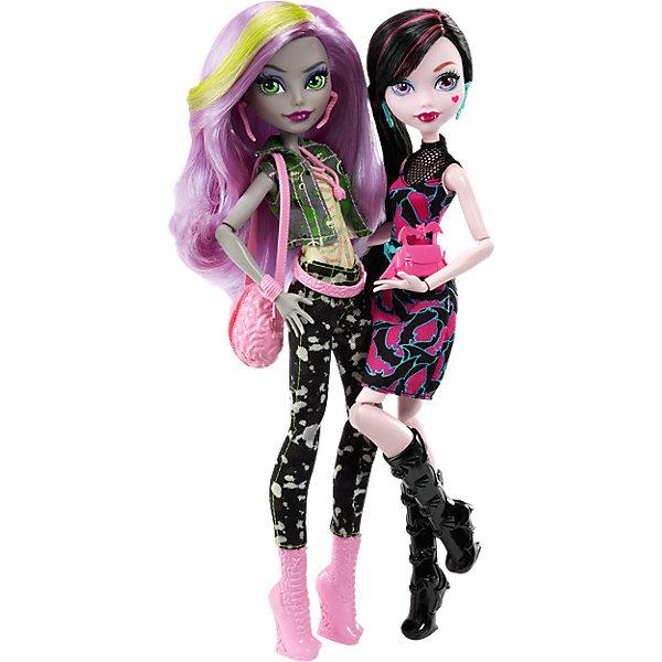 Набор из двух кукол: Дракулаура и Моника, Monster HighБренды кукол<br><br><br>Ширина мм: 328<br>Глубина мм: 269<br>Высота мм: 71<br>Вес г: 410<br>Возраст от месяцев: 72<br>Возраст до месяцев: 120<br>Пол: Женский<br>Возраст: Детский<br>SKU: 4765375