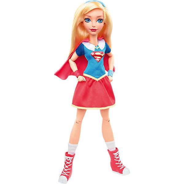 Кукла Супергёрл DC Super Hero GirlsКуклы<br>Характеристики товара:<br><br>• упаковка: коробка-блистер<br>• материал: пластик<br>• серия: DC Super Hero Girls<br>• руки, ноги гнутся<br>• высота куклы: 30 см<br>• возраст: от трех лет<br>• размер упаковки: 20х10х32 см<br>• вес: 0,3 кг<br>• страна производства: Китай<br>• страна бренда: США<br><br>Барби может разной! Такой современный образ изящной куклы порадует маленьких любительниц вселенной супергероев. Она позволит придумать множество игр со своими любимыми персонажами. Кукла отлично детализирована. Высота - 30 сантиметров, поэтому и выглядит героиня внушительно.<br><br>Игры с такими куклами - это не только весело, они помогают детям развить воображение, творческое и пространственное мышление, мелкую моторику . Игрушки от бренда Mattel отличаются стабильно высоким качеством и уже давно радуют детей по всему миру! <br><br>Куклу Супергёрл DC Super Hero Girls от компании Mattel можно купить в нашем интернет-магазине.<br><br>Ширина мм: 328<br>Глубина мм: 205<br>Высота мм: 88<br>Вес г: 375<br>Возраст от месяцев: 72<br>Возраст до месяцев: 120<br>Пол: Женский<br>Возраст: Детский<br>SKU: 4765390
