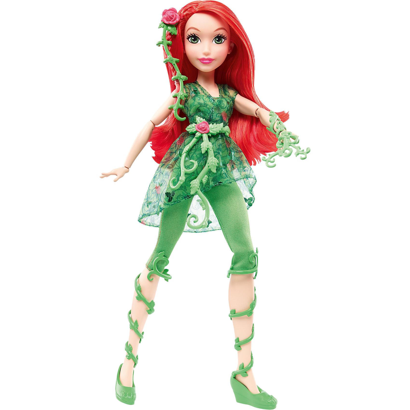 Кукла Ядовитый плющ DC Super Hero GirlsКуклы-модели<br>Характеристики товара:<br><br>• упаковка: коробка-блистер<br>• материал: пластик<br>• серия: DC Super Hero Girls<br>• руки, ноги гнутся<br>• высота куклы: 30 см<br>• возраст: от трех лет<br>• размер упаковки: 20х10х32 см<br>• вес: 0,3 кг<br>• страна производства: Китай<br>• страна бренда: США<br><br>Барби может разной! Такой современный образ изящной куклы порадует маленьких любительниц вселенной супергероев. Она позволит придумать множество игр со своими любимыми персонажами. Кукла отлично детализирована. Высота - 30 сантиметров, поэтому и выглядит героиня внушительно.<br><br>Игры с такими куклами - это не только весело, они помогают детям развить воображение, творческое и пространственное мышление, мелкую моторику . Игрушки от бренда Mattel отличаются стабильно высоким качеством и уже давно радуют детей по всему миру! <br><br>Куклу Ядовитый плющ DC Super Hero Girls от компании Mattel можно купить в нашем интернет-магазине.<br><br>Ширина мм: 328<br>Глубина мм: 210<br>Высота мм: 81<br>Вес г: 347<br>Возраст от месяцев: 72<br>Возраст до месяцев: 120<br>Пол: Женский<br>Возраст: Детский<br>SKU: 4765394
