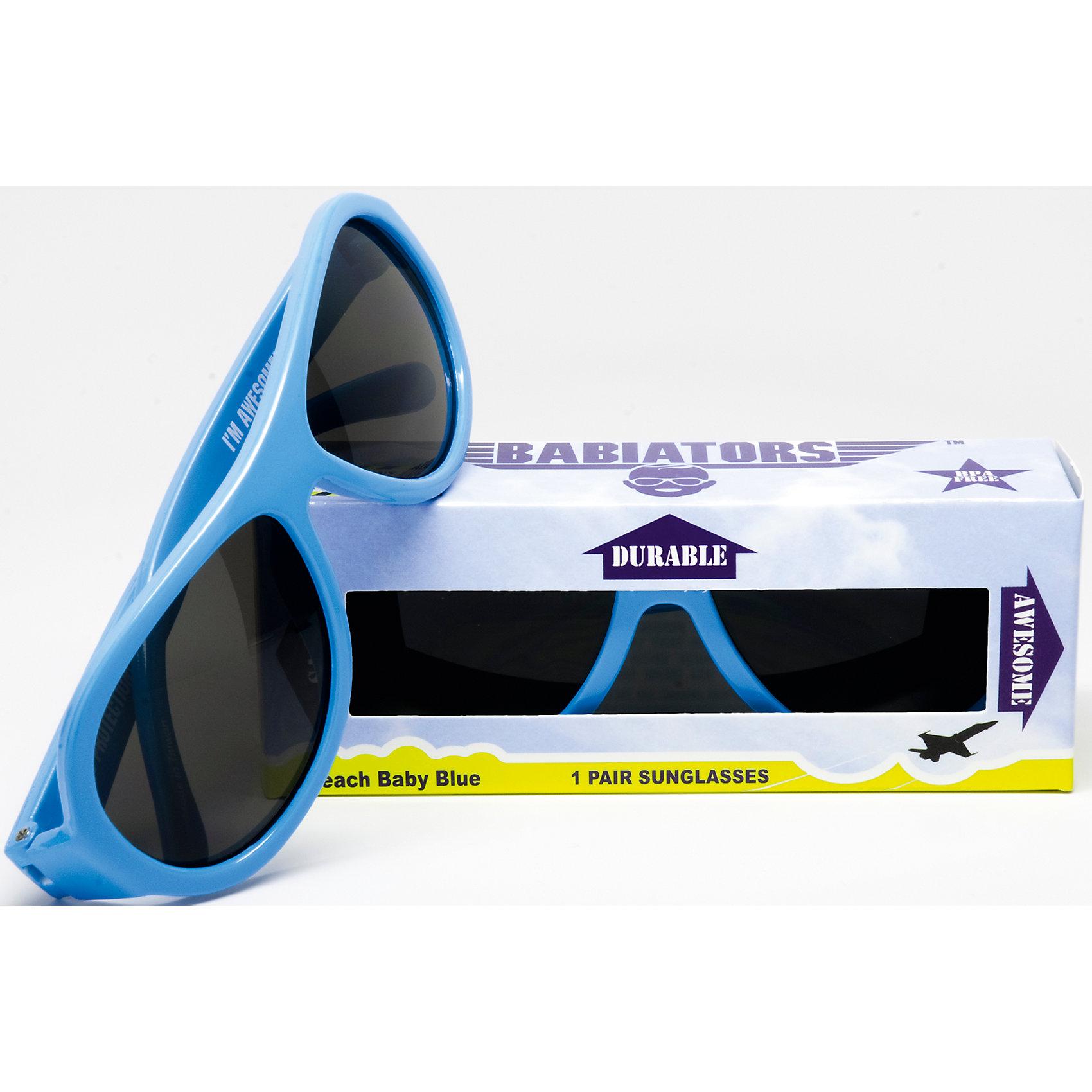 Солнцезащитные очки Babiators OriginalЗащита глаз всегда в моде.<br>Вы делаете все возможное, чтобы ваши дети были здоровы и в безопасности. Шлемы для езды на велосипеде, солнцезащитный крем для прогулок на солнце. Но как насчёт влияния солнца на глазах вашего ребёнка? Правда в том, что сетчатка глаза у детей развивается вместе с самим ребёнком. Это означает, что глаза малышей не могут отфильтровать УФ-излучение. Добавьте к этому тот факт, что дети за год получают трёхкратную дозу солнечного воздействия на взрослого человека (доклад Vision Council Report 2013, США). Проблема понятна - детям нужна настоящая защита, чтобы глазка были в безопасности, а зрение сильным.<br>Каждая пара солнцезащитных очков Babiators для детей обеспечивает 100% защиту от UVA и UVB. Прочные линзы высшего качества не подведут в самых сложных переделках. Будьте уверены, что очки Babiators созданы безопасными, прочными и классными, так что вы и ваш маленький лётчик можете приступать к своим приключениям!<br><br>• Прочная, гибкая прорезиненная оправа;<br>• 100 % защита от UVA и UVB солнечных лучей;<br>• Ударопрочные линзы;<br>• Стильные: выбор многих голливудских звёзд.<br><br>Ширина мм: 170<br>Глубина мм: 157<br>Высота мм: 67<br>Вес г: 117<br>Возраст от месяцев: 0<br>Возраст до месяцев: 36<br>Пол: Унисекс<br>Возраст: Детский<br>SKU: 4766959