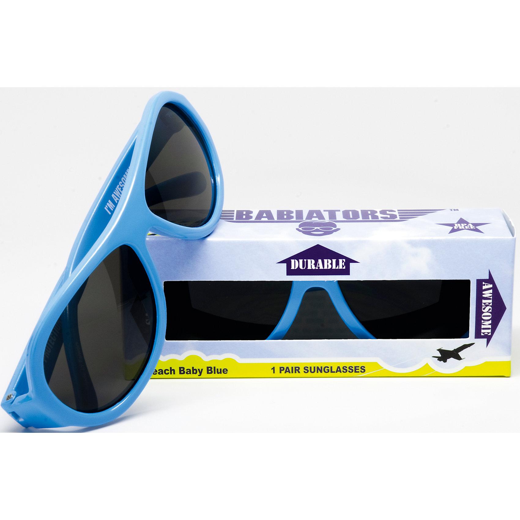 Солнцезащитные очки Babiators OriginalЗащита глаз всегда в моде.<br>Вы делаете все возможное, чтобы ваши дети были здоровы и в безопасности. Шлемы для езды на велосипеде, солнцезащитный крем для прогулок на солнце. Но как насчёт влияния солнца на глазах вашего ребёнка? Правда в том, что сетчатка глаза у детей развивается вместе с самим ребёнком. Это означает, что глаза малышей не могут отфильтровать УФ-излучение. Добавьте к этому тот факт, что дети за год получают трёхкратную дозу солнечного воздействия на взрослого человека (доклад Vision Council Report 2013, США). Проблема понятна - детям нужна настоящая защита, чтобы глазка были в безопасности, а зрение сильным.<br>Каждая пара солнцезащитных очков Babiators для детей обеспечивает 100% защиту от UVA и UVB. Прочные линзы высшего качества не подведут в самых сложных переделках. Будьте уверены, что очки Babiators созданы безопасными, прочными и классными, так что вы и ваш маленький лётчик можете приступать к своим приключениям!<br><br>• Прочная, гибкая прорезиненная оправа;<br>• 100 % защита от UVA и UVB солнечных лучей;<br>• Ударопрочные линзы;<br>• Стильные: выбор многих голливудских звёзд.<br><br>Ширина мм: 170<br>Глубина мм: 157<br>Высота мм: 67<br>Вес г: 117<br>Возраст от месяцев: 36<br>Возраст до месяцев: 84<br>Пол: Унисекс<br>Возраст: Детский<br>SKU: 4766960