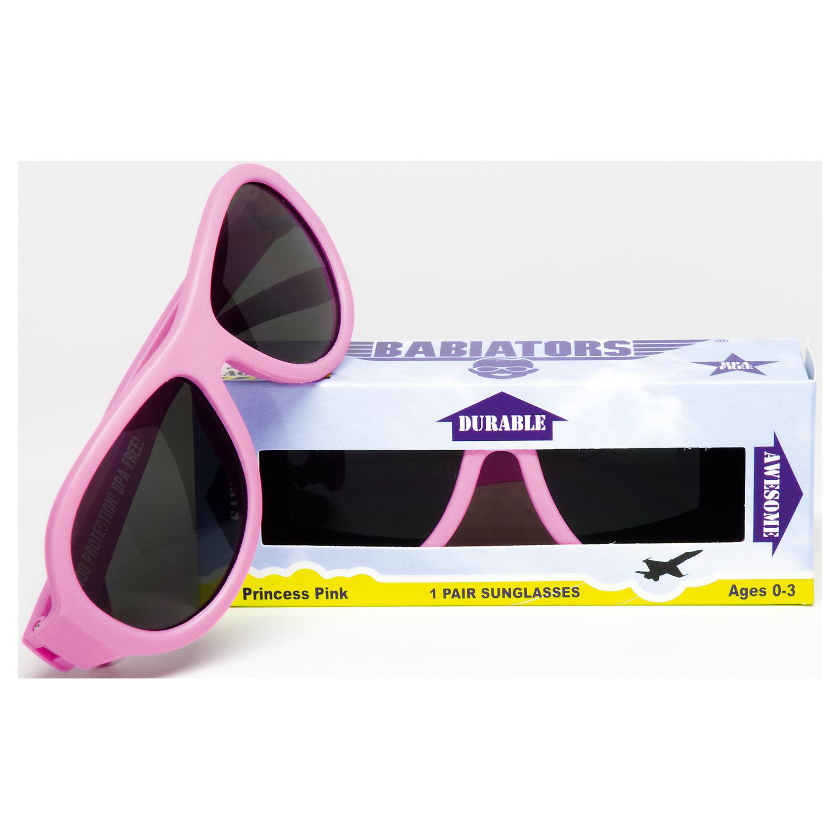 Солнцезащитные очки Babiators OriginalЗащита глаз всегда в моде.<br>Вы делаете все возможное, чтобы ваши дети были здоровы и в безопасности. Шлемы для езды на велосипеде, солнцезащитный крем для прогулок на солнце. Но как насчёт влияния солнца на глазах вашего ребёнка? Правда в том, что сетчатка глаза у детей развивается вместе с самим ребёнком. Это означает, что глаза малышей не могут отфильтровать УФ-излучение. Добавьте к этому тот факт, что дети за год получают трёхкратную дозу солнечного воздействия на взрослого человека (доклад Vision Council Report 2013, США). Проблема понятна - детям нужна настоящая защита, чтобы глазка были в безопасности, а зрение сильным.<br>Каждая пара солнцезащитных очков Babiators для детей обеспечивает 100% защиту от UVA и UVB. Прочные линзы высшего качества не подведут в самых сложных переделках. Будьте уверены, что очки Babiators созданы безопасными, прочными и классными, так что вы и ваш маленький лётчик можете приступать к своим приключениям!<br><br>• Прочная, гибкая прорезиненная оправа;<br>• 100 % защита от UVA и UVB солнечных лучей;<br>• Ударопрочные линзы;<br>• Стильные: выбор многих голливудских звёзд.<br><br>Ширина мм: 170<br>Глубина мм: 157<br>Высота мм: 67<br>Вес г: 117<br>Возраст от месяцев: 0<br>Возраст до месяцев: 36<br>Пол: Унисекс<br>Возраст: Детский<br>SKU: 4766967