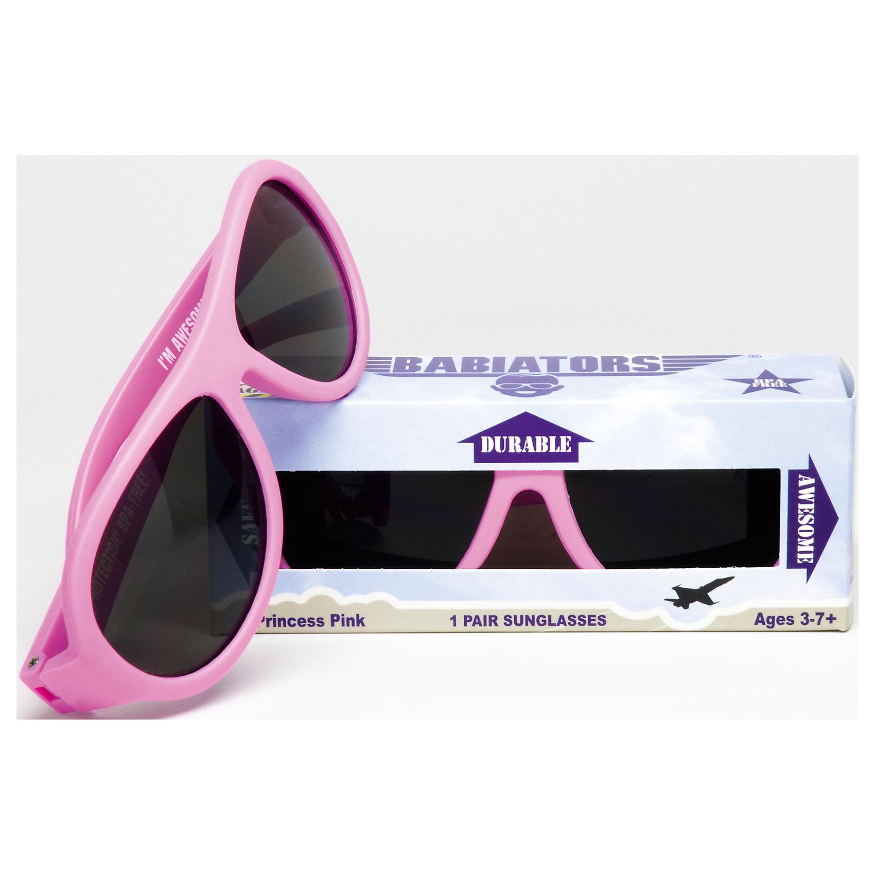 Солнцезащитные очки Babiators OriginalЗащита глаз всегда в моде.<br>Вы делаете все возможное, чтобы ваши дети были здоровы и в безопасности. Шлемы для езды на велосипеде, солнцезащитный крем для прогулок на солнце. Но как насчёт влияния солнца на глазах вашего ребёнка? Правда в том, что сетчатка глаза у детей развивается вместе с самим ребёнком. Это означает, что глаза малышей не могут отфильтровать УФ-излучение. Добавьте к этому тот факт, что дети за год получают трёхкратную дозу солнечного воздействия на взрослого человека (доклад Vision Council Report 2013, США). Проблема понятна - детям нужна настоящая защита, чтобы глазка были в безопасности, а зрение сильным.<br>Каждая пара солнцезащитных очков Babiators для детей обеспечивает 100% защиту от UVA и UVB. Прочные линзы высшего качества не подведут в самых сложных переделках. Будьте уверены, что очки Babiators созданы безопасными, прочными и классными, так что вы и ваш маленький лётчик можете приступать к своим приключениям!<br><br>• Прочная, гибкая прорезиненная оправа;<br>• 100 % защита от UVA и UVB солнечных лучей;<br>• Ударопрочные линзы;<br>• Стильные: выбор многих голливудских звёзд.<br><br>Ширина мм: 170<br>Глубина мм: 157<br>Высота мм: 67<br>Вес г: 117<br>Возраст от месяцев: 36<br>Возраст до месяцев: 84<br>Пол: Унисекс<br>Возраст: Детский<br>SKU: 4766968
