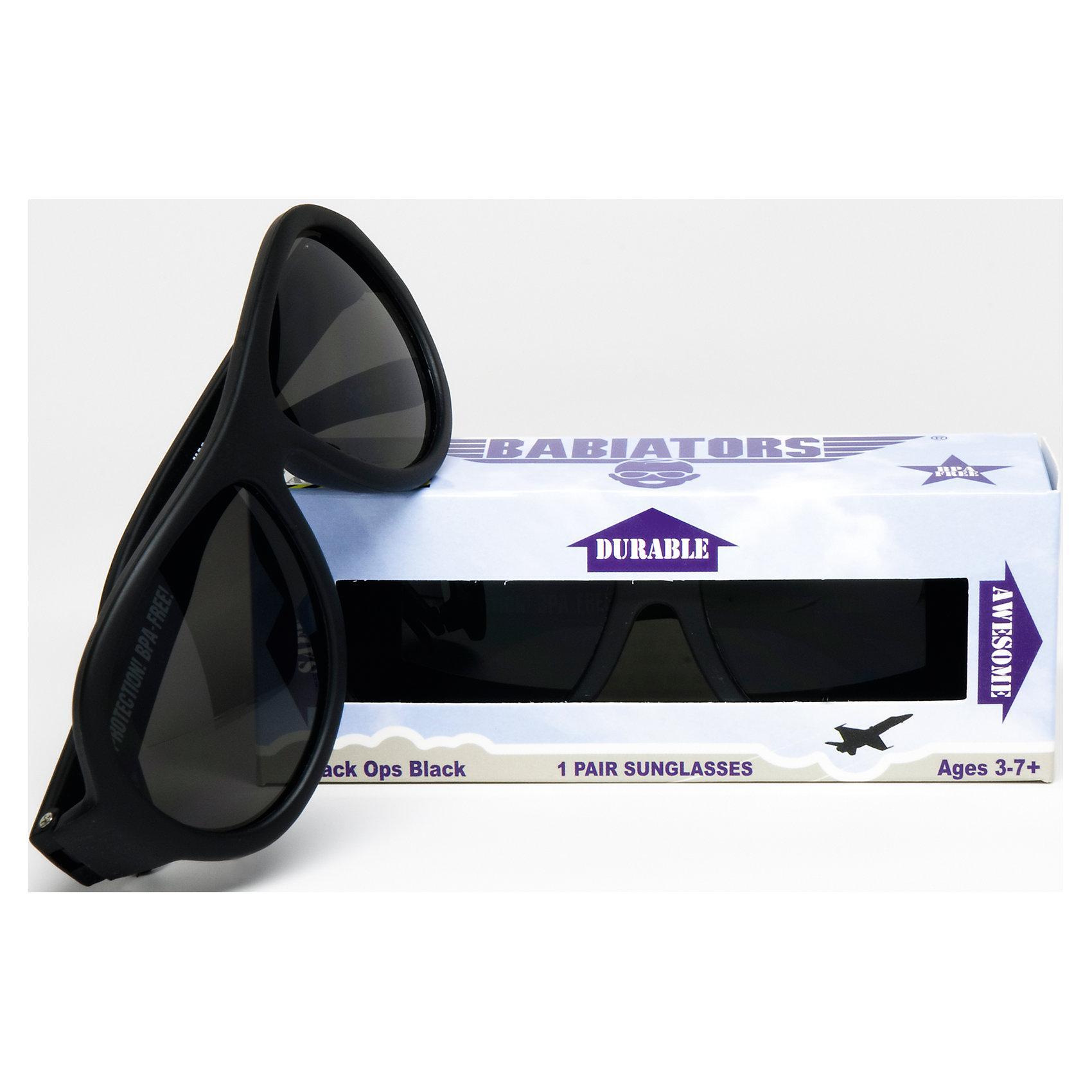 Солнцезащитные очки Babiators OriginalЗащита глаз всегда в моде.<br>Вы делаете все возможное, чтобы ваши дети были здоровы и в безопасности. Шлемы для езды на велосипеде, солнцезащитный крем для прогулок на солнце. Но как насчёт влияния солнца на глазах вашего ребёнка? Правда в том, что сетчатка глаза у детей развивается вместе с самим ребёнком. Это означает, что глаза малышей не могут отфильтровать УФ-излучение. Добавьте к этому тот факт, что дети за год получают трёхкратную дозу солнечного воздействия на взрослого человека (доклад Vision Council Report 2013, США). Проблема понятна - детям нужна настоящая защита, чтобы глазка были в безопасности, а зрение сильным.<br>Каждая пара солнцезащитных очков Babiators для детей обеспечивает 100% защиту от UVA и UVB. Прочные линзы высшего качества не подведут в самых сложных переделках. Будьте уверены, что очки Babiators созданы безопасными, прочными и классными, так что вы и ваш маленький лётчик можете приступать к своим приключениям!<br><br>• Прочная, гибкая прорезиненная оправа;<br>• 100 % защита от UVA и UVB солнечных лучей;<br>• Ударопрочные линзы;<br>• Стильные: выбор многих голливудских звёзд.<br><br>Ширина мм: 170<br>Глубина мм: 157<br>Высота мм: 67<br>Вес г: 117<br>Возраст от месяцев: 36<br>Возраст до месяцев: 84<br>Пол: Унисекс<br>Возраст: Детский<br>SKU: 4766970